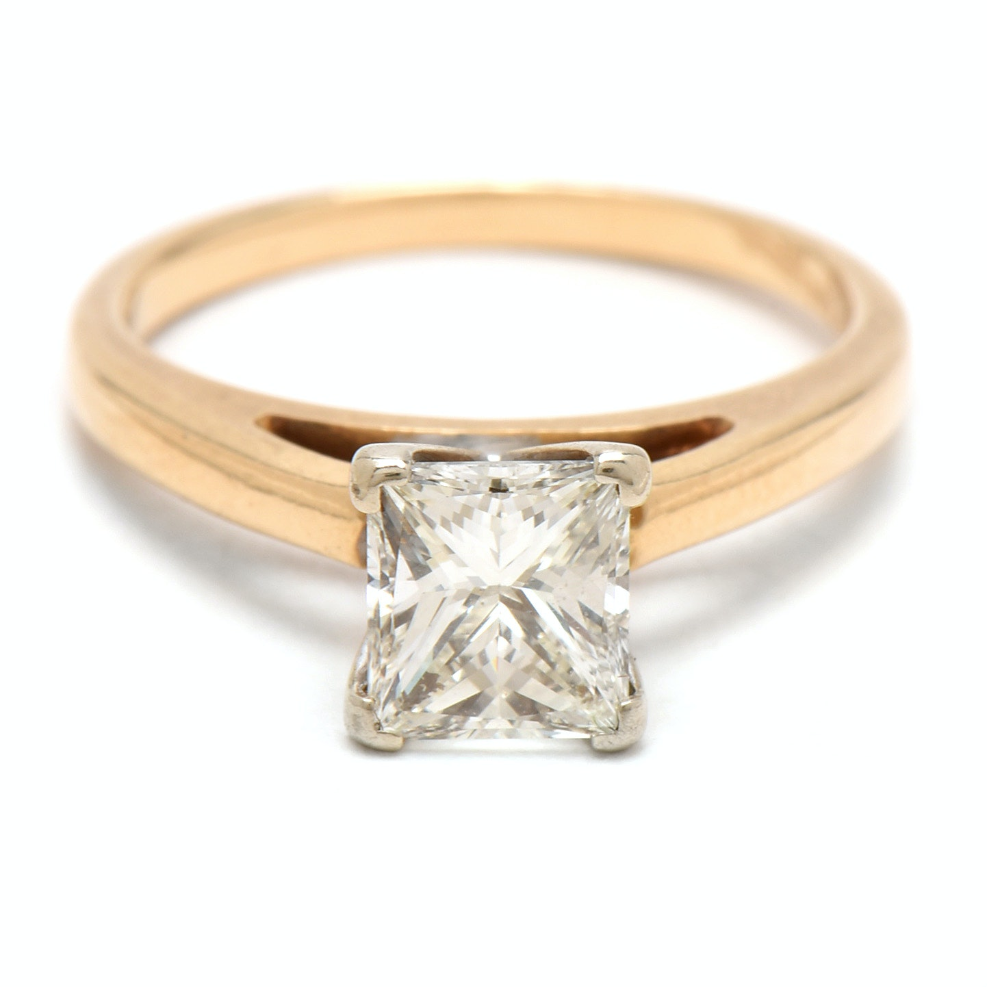 14K Yellow Gold 1.07 CT Diamond Solitaire Ring