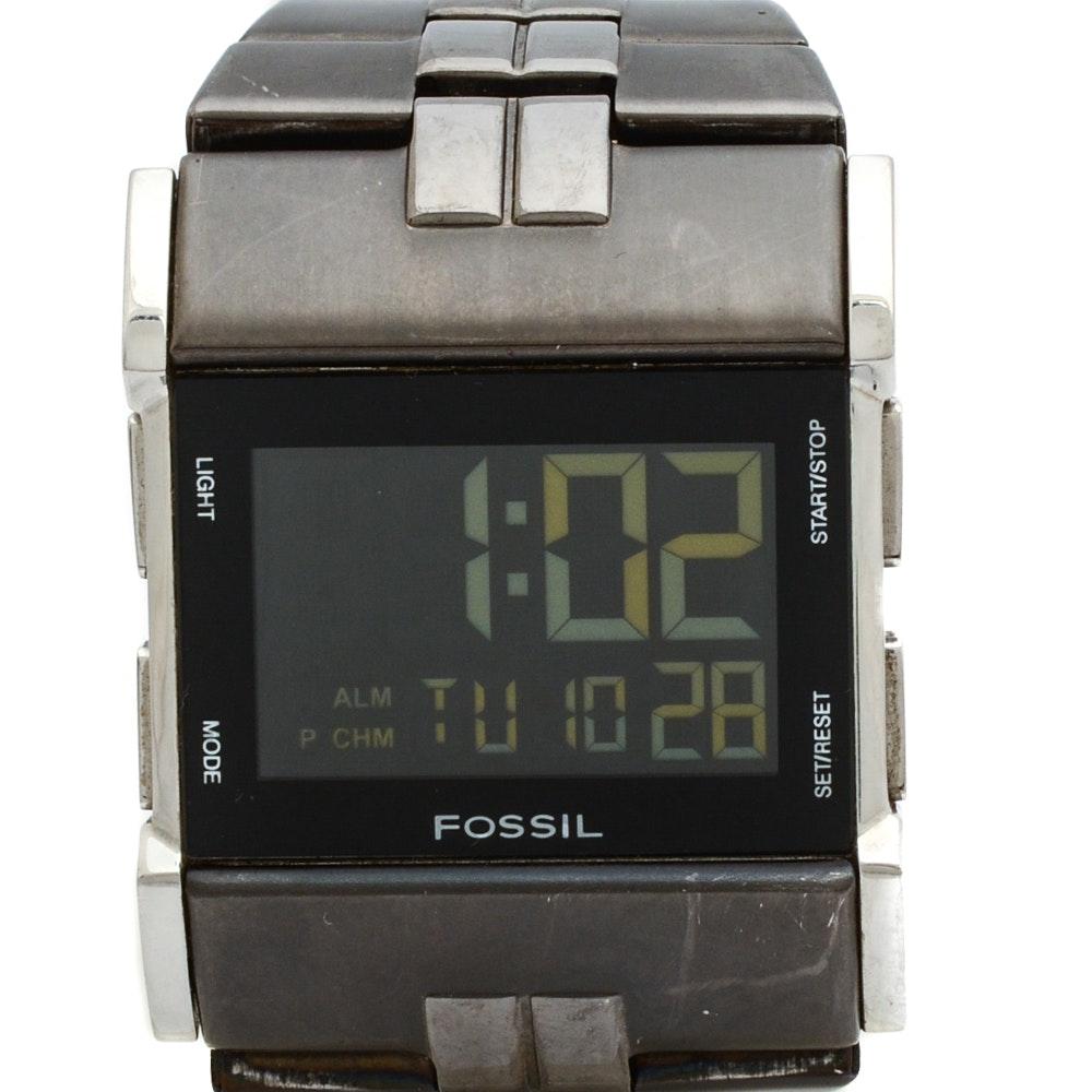 Fossil Digital Stainless Steel Wristwatch