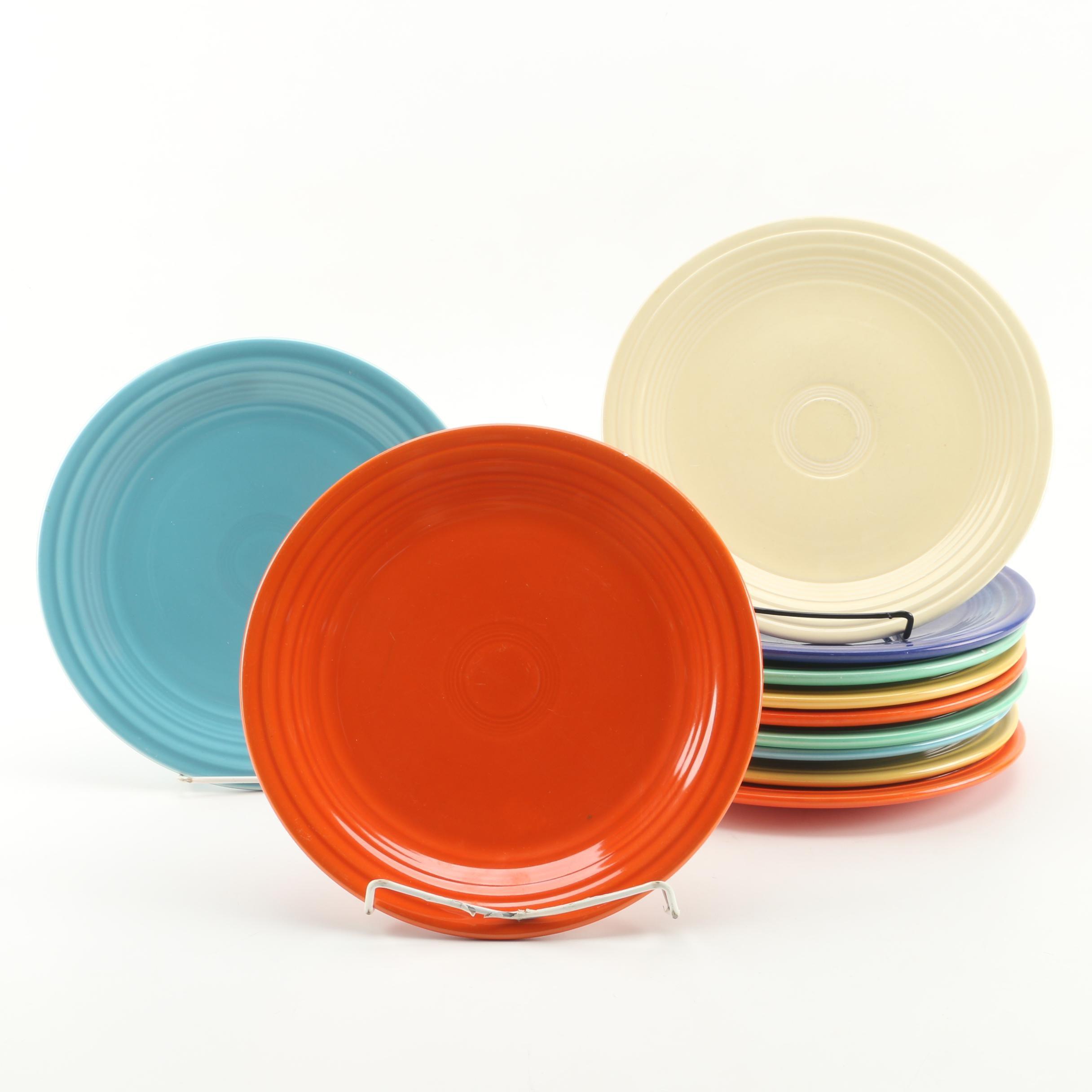 "Homer Laughlin ""Fiesta"" Ceramic Luncheon Plates"