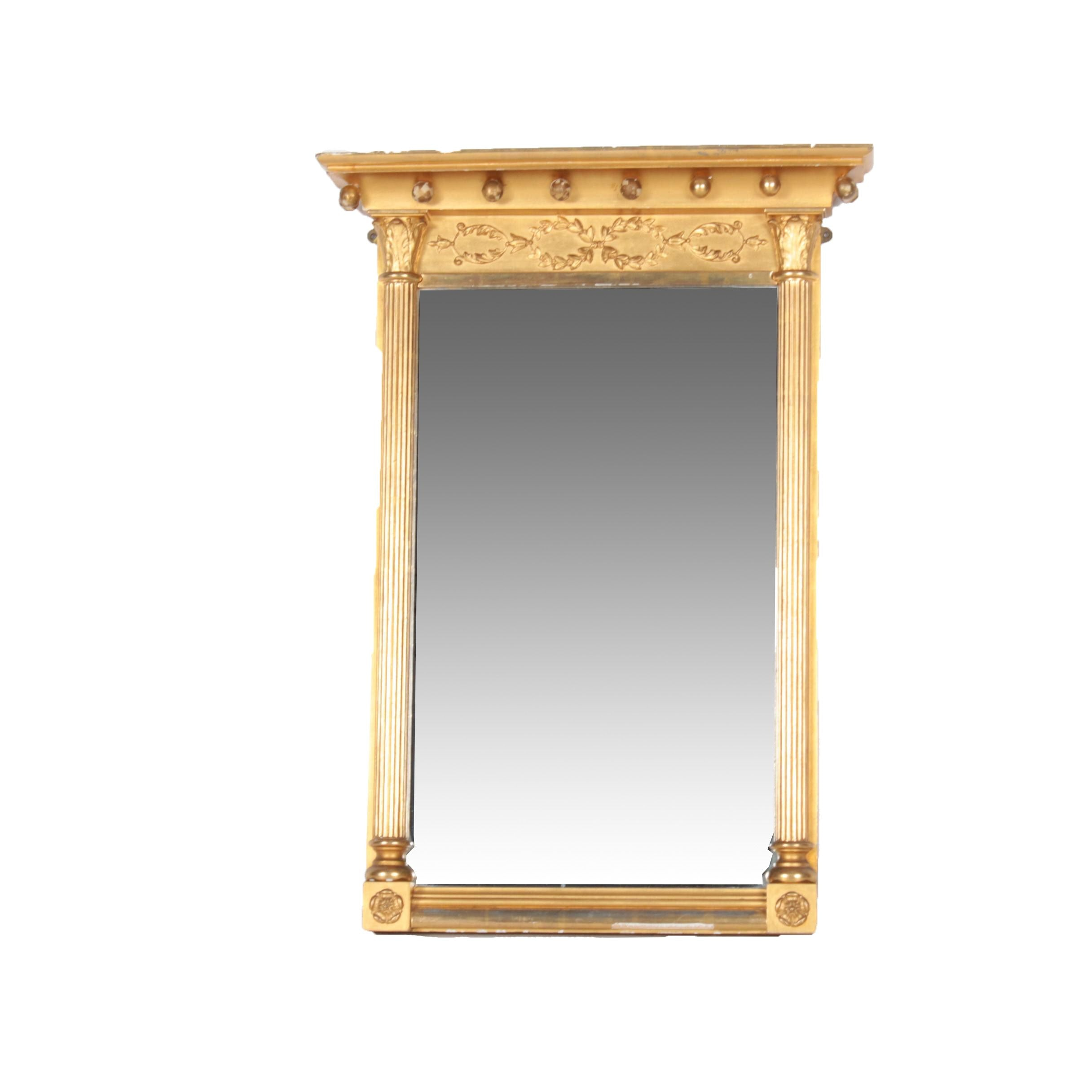 Antique Federal Style Gilt Wall Mirror