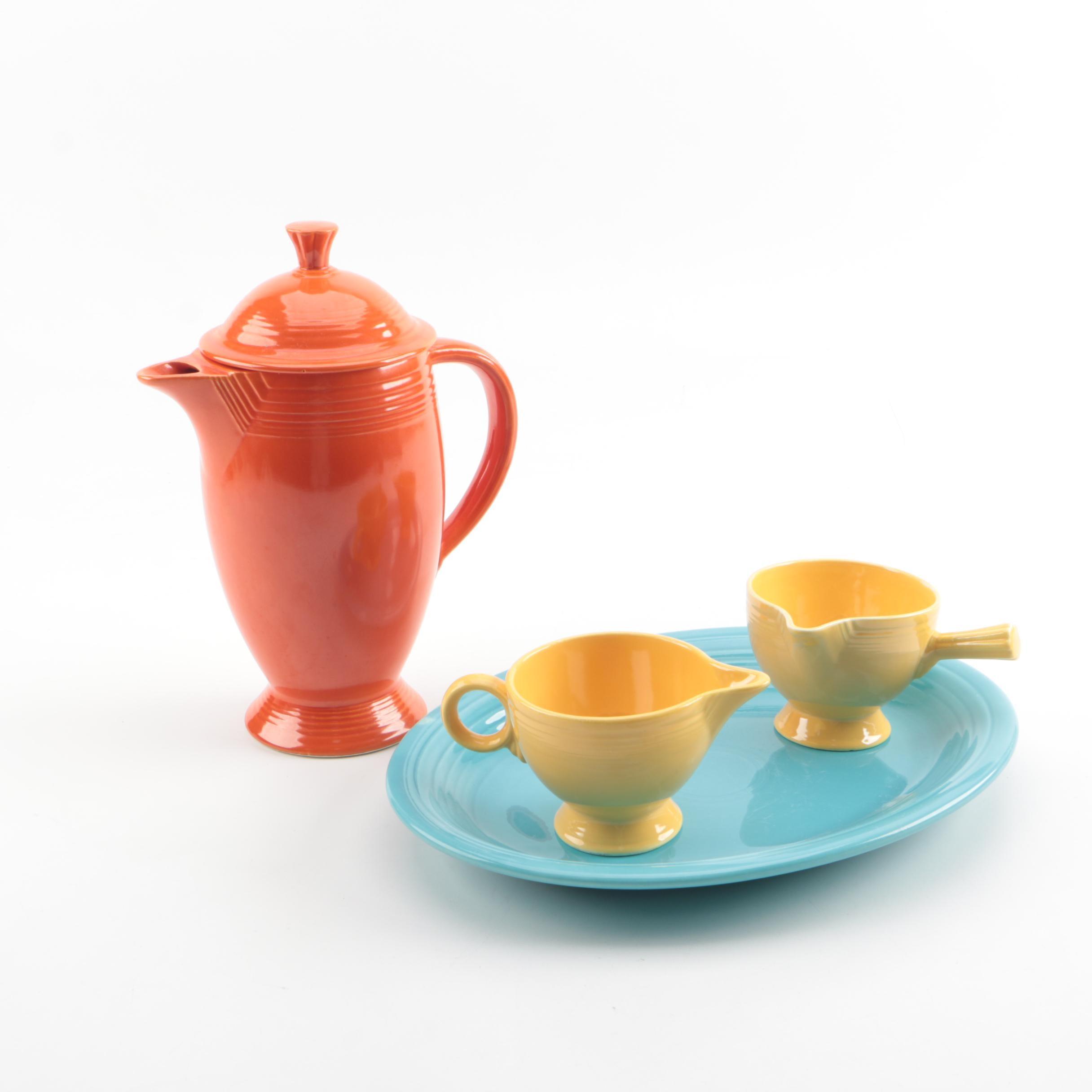 "Vintage Homer Laughlin ""Fiesta"" Ceramic Serveware"