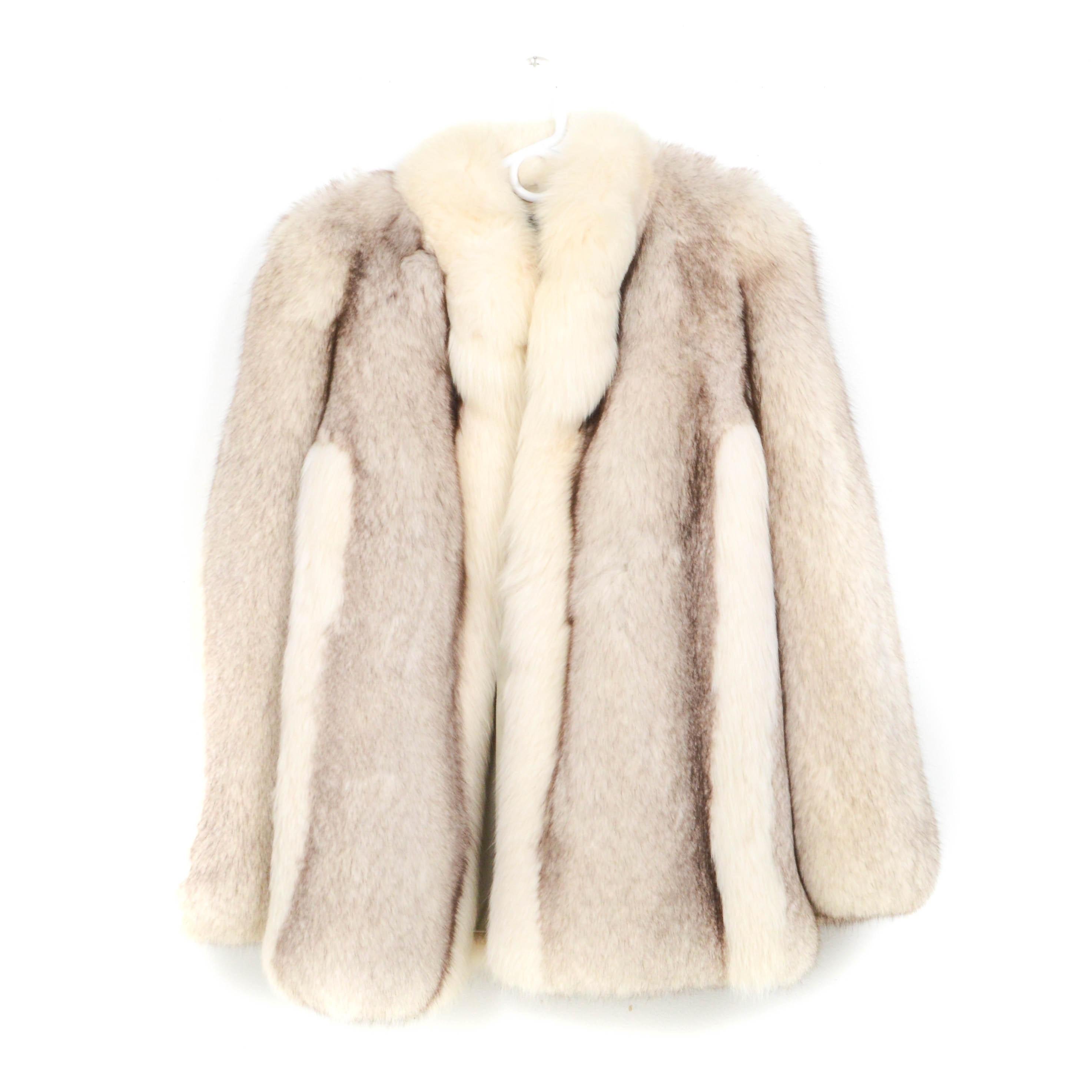 Williams Fur Group Blue Fox Fur Stroller Coat