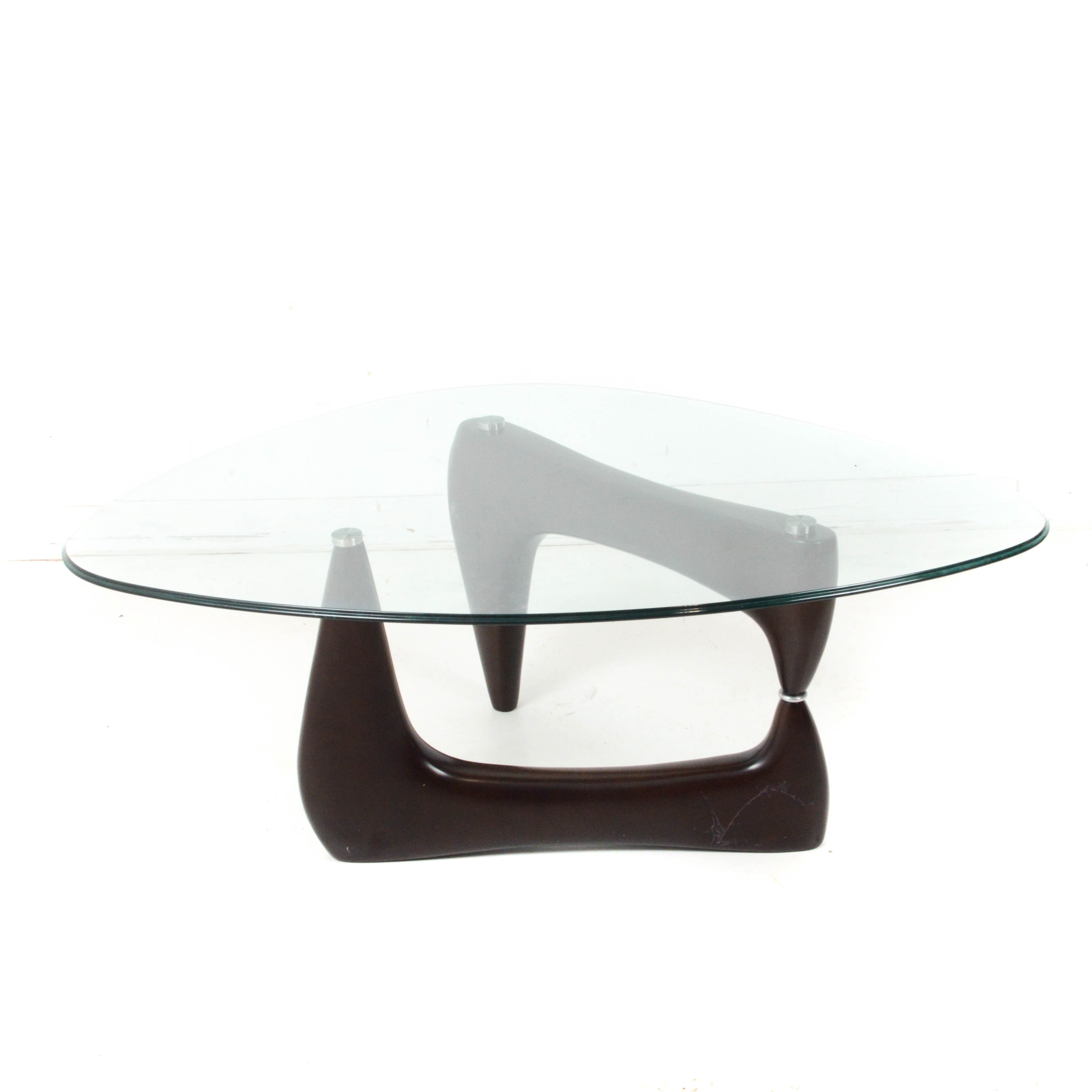 Noguchi Style Glass Top Coffee Table