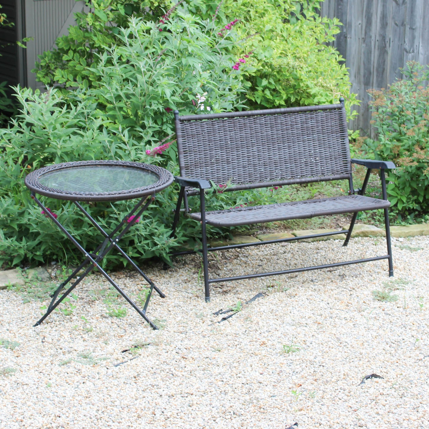 Outdoor Patio Table and Bench