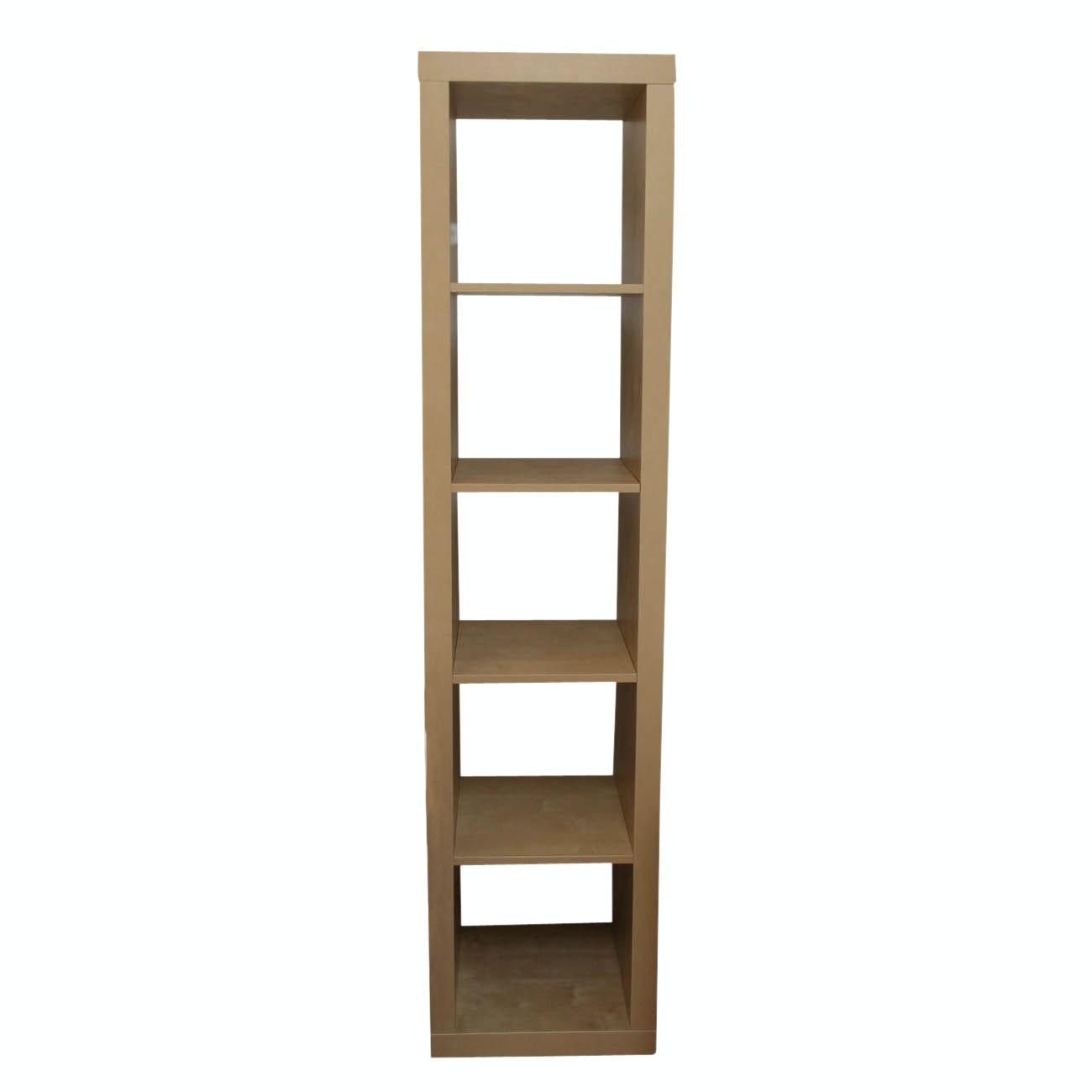 Open Back Bookcase or Display Cabinet with Oak Veneer