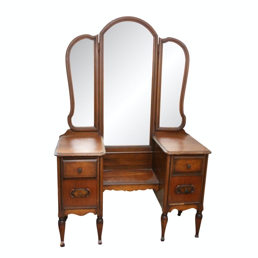 Antique Wooden Vanity ... - Antique Wooden Vanity : EBTH