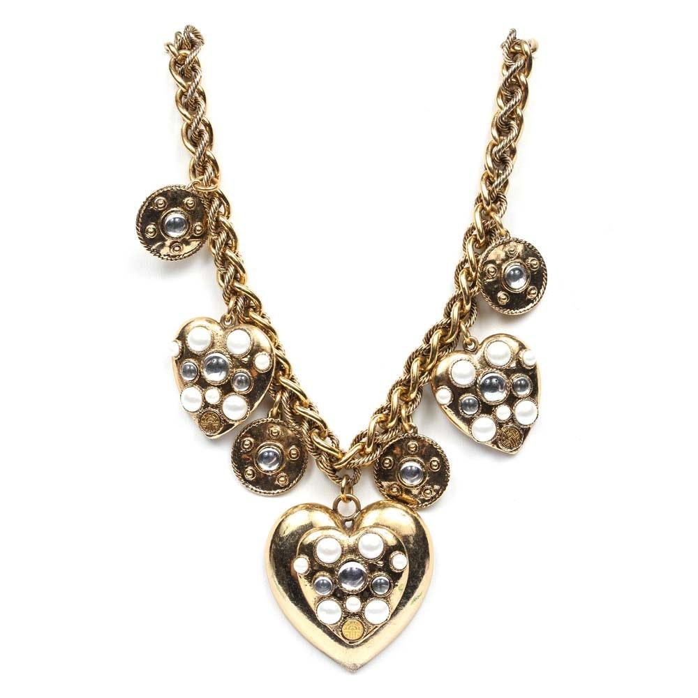 Louis Féraud Haute Couture Gold Tone Necklace