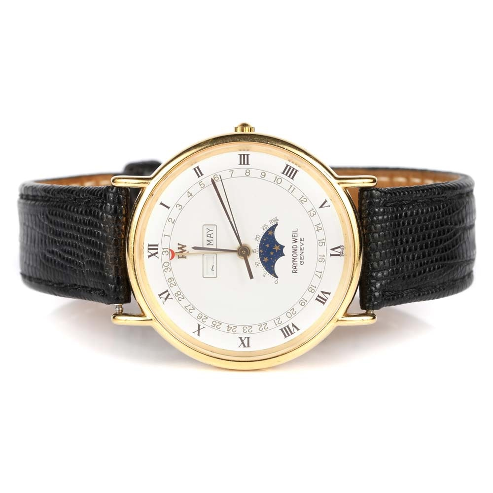 Raymond Weil 18K Yellow Gold Plate Wristwatch