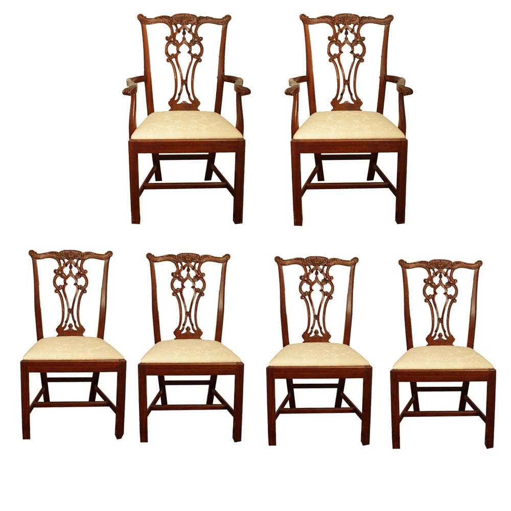 "Hickory Chair Company ""Rhode Island Chippendale"" Dining Chairs"