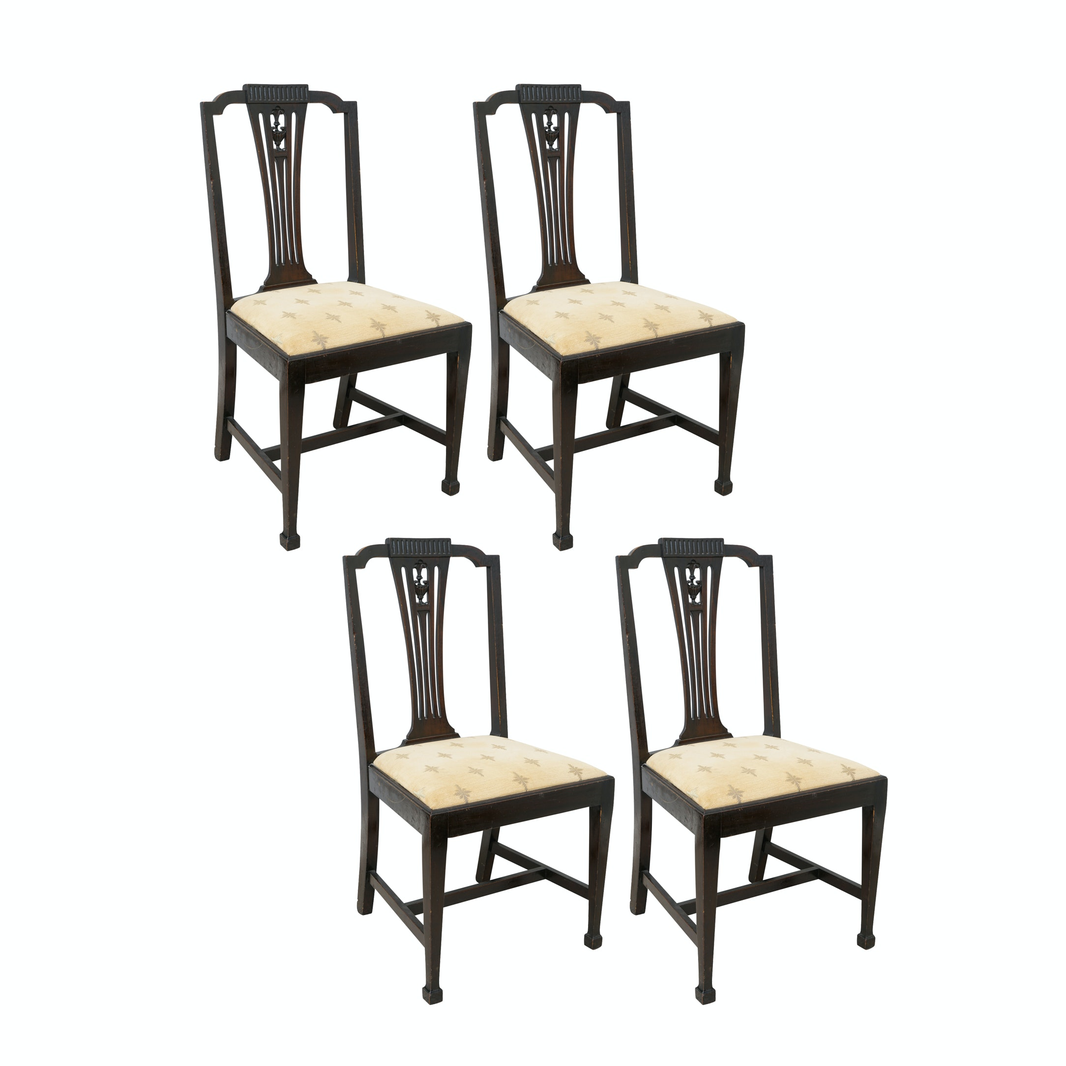 Vintage Neoclassical Style Mahogany Side Chairs