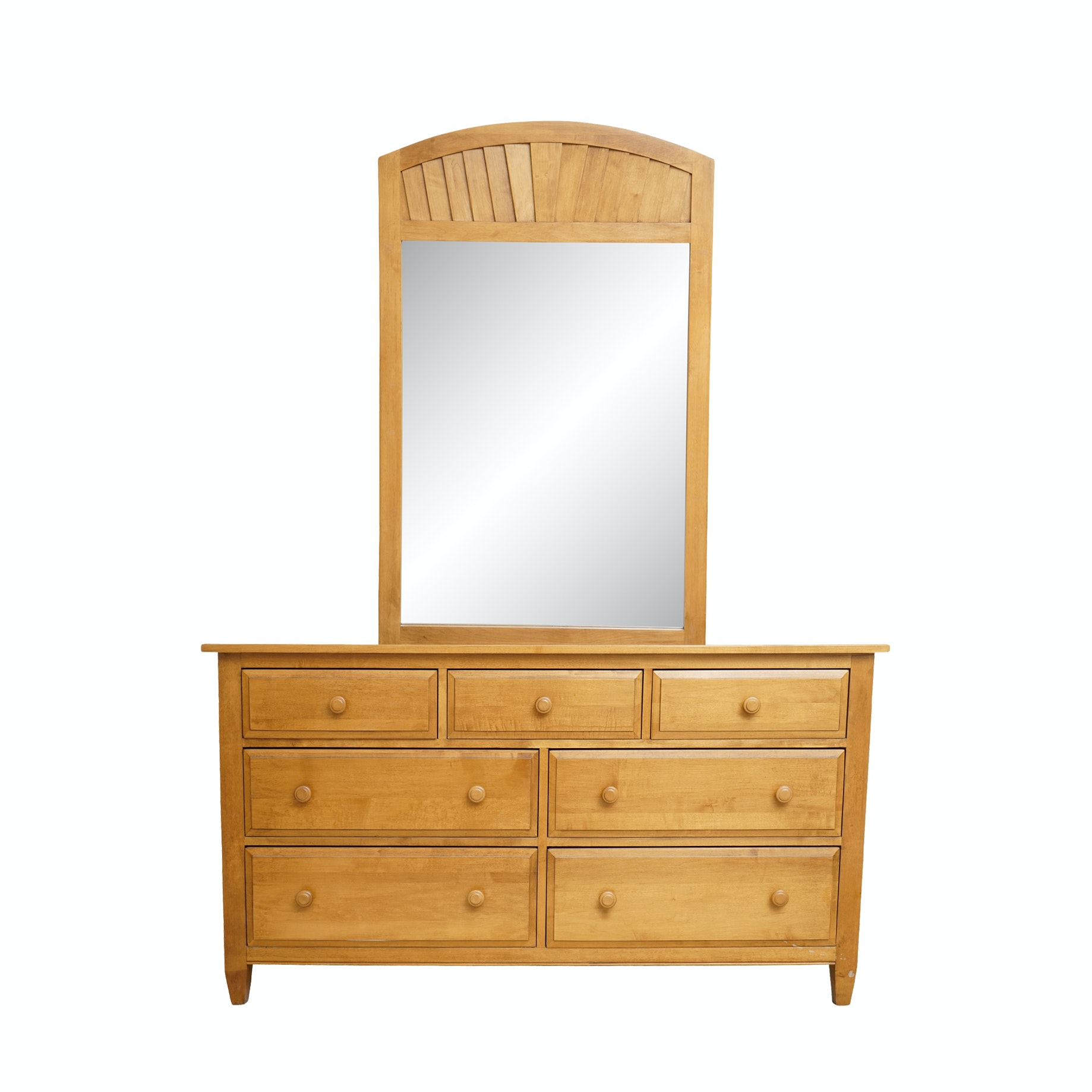 """Country Colors"" Dresser with Mirror by Ethan Allen"
