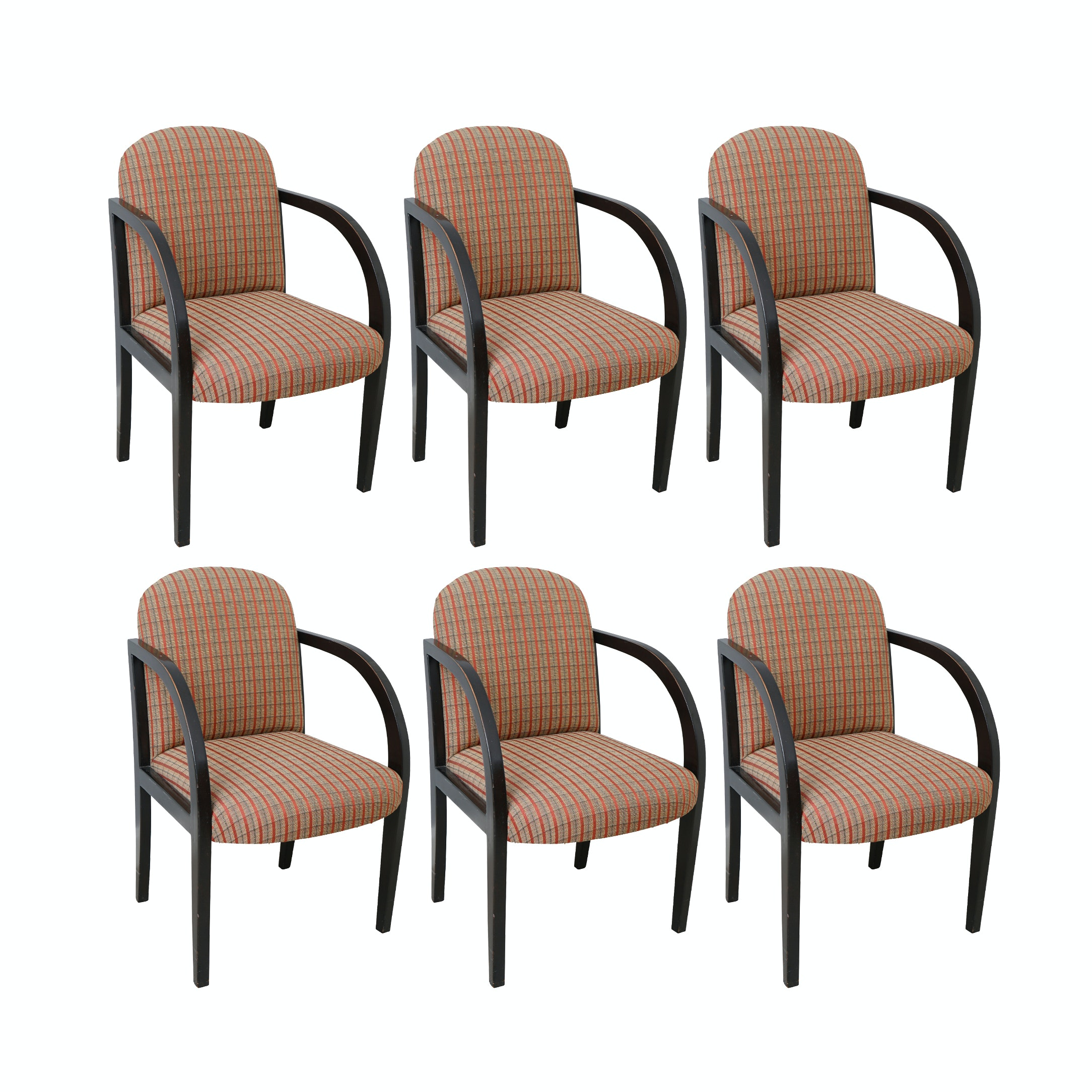 Plaid Upholstered Dining Chair Set