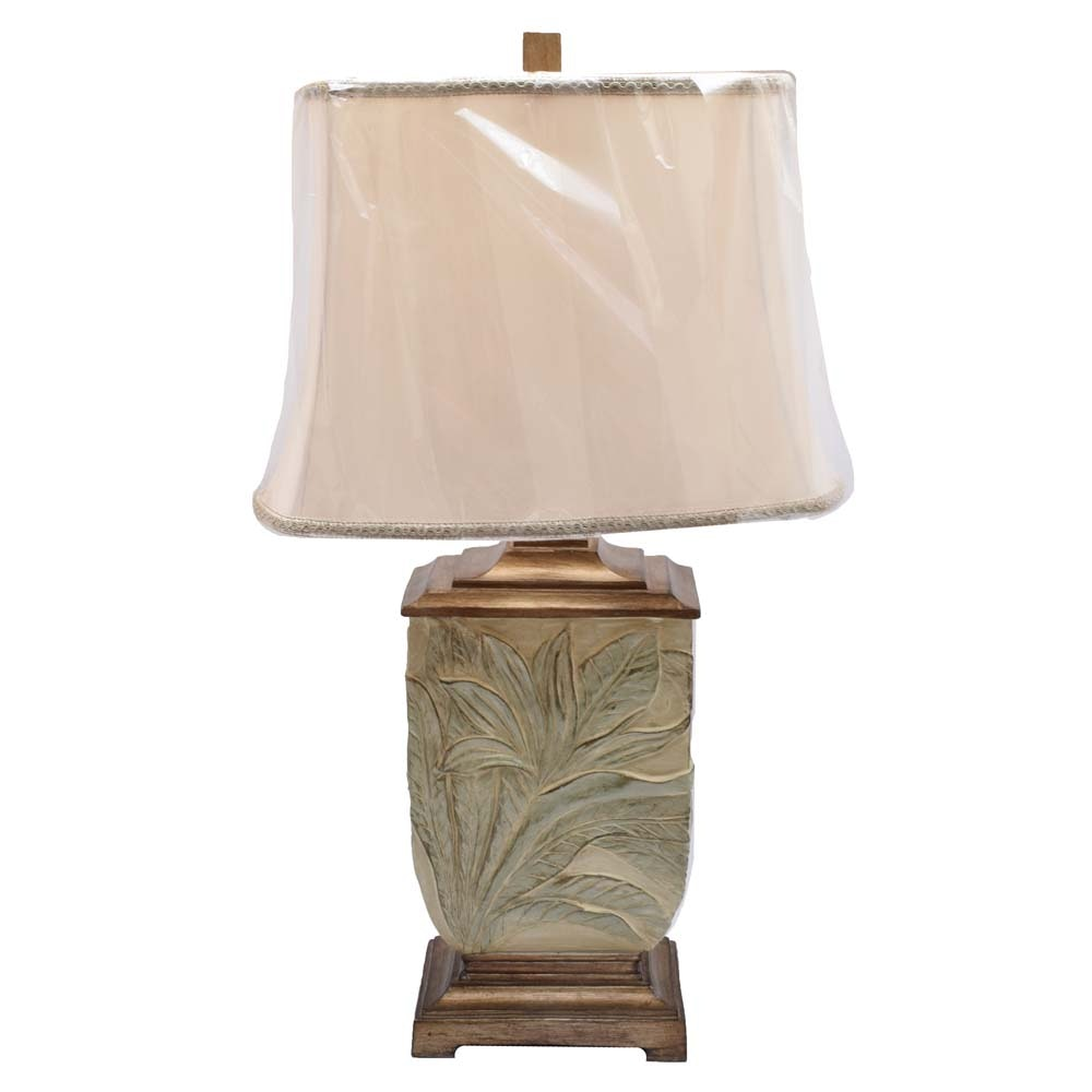 Tropical Design Table Lamp with Shade