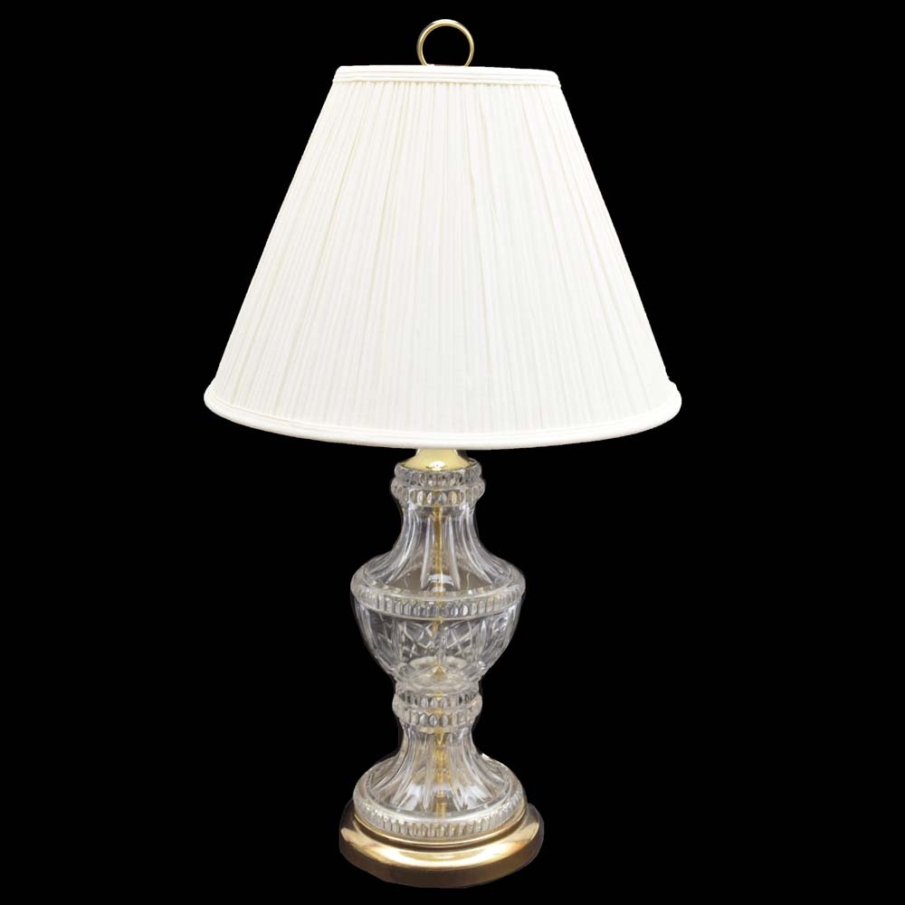 Vintage Glass Table Lamp with Shade