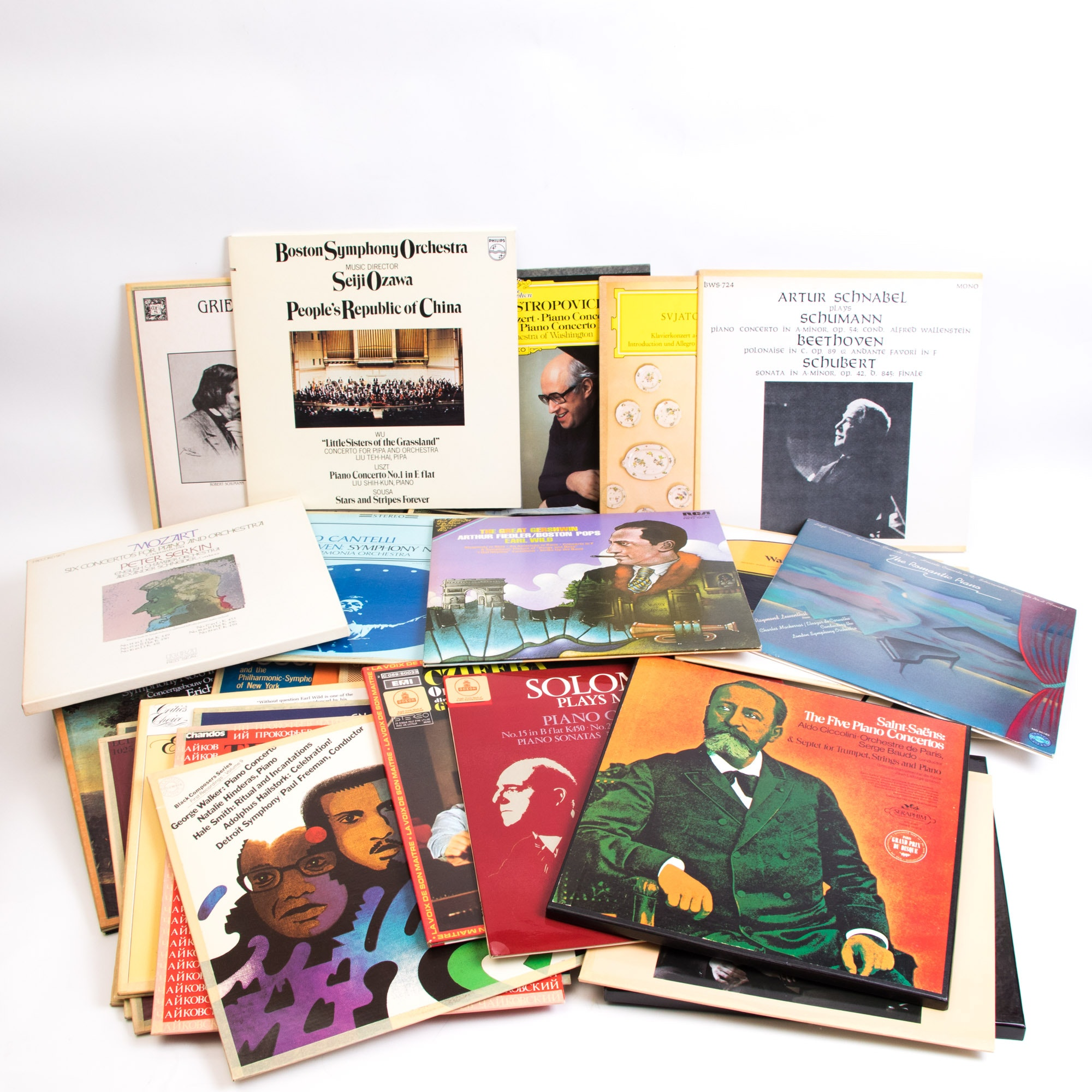 Assortment of Classical and Orchestral LP Records