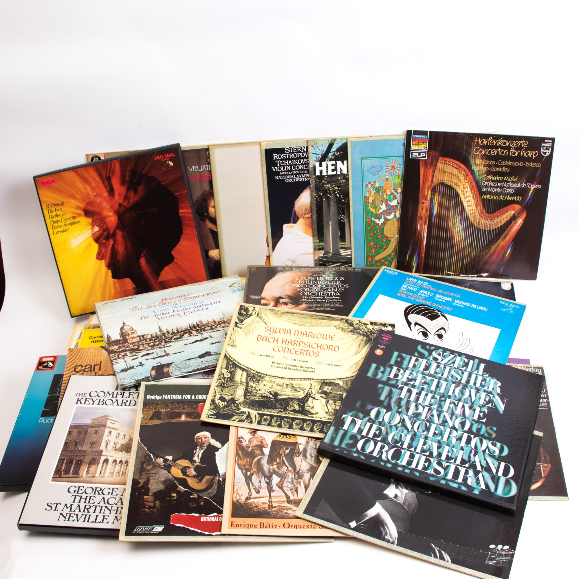 Grouping of Classical and Orchestral LP Records