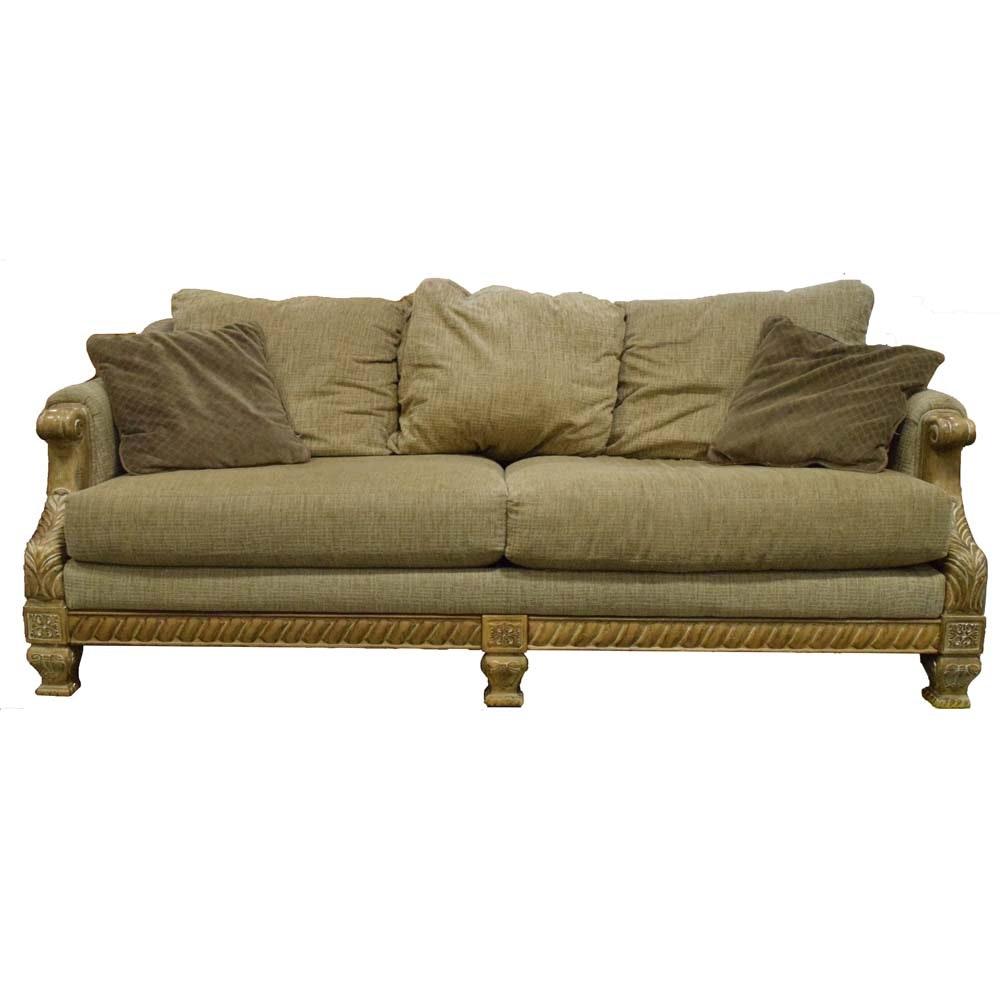Natural Tan Upholstered Sofa