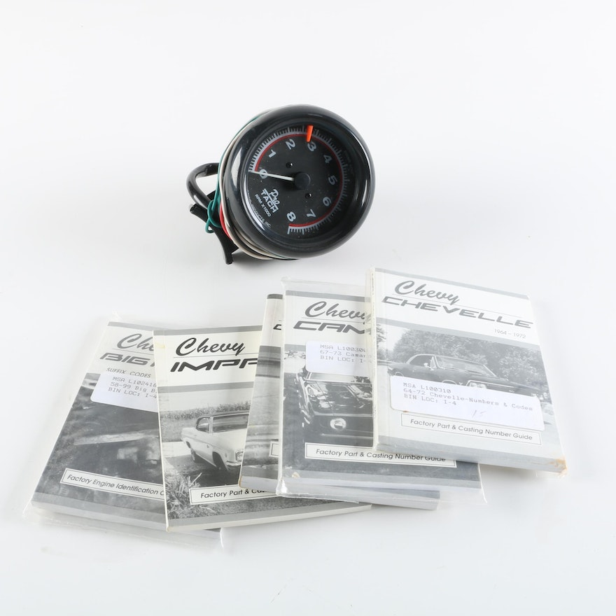Vintage Chevy MSA-1 Guides and and Equus 6088 Tachometer : EBTH