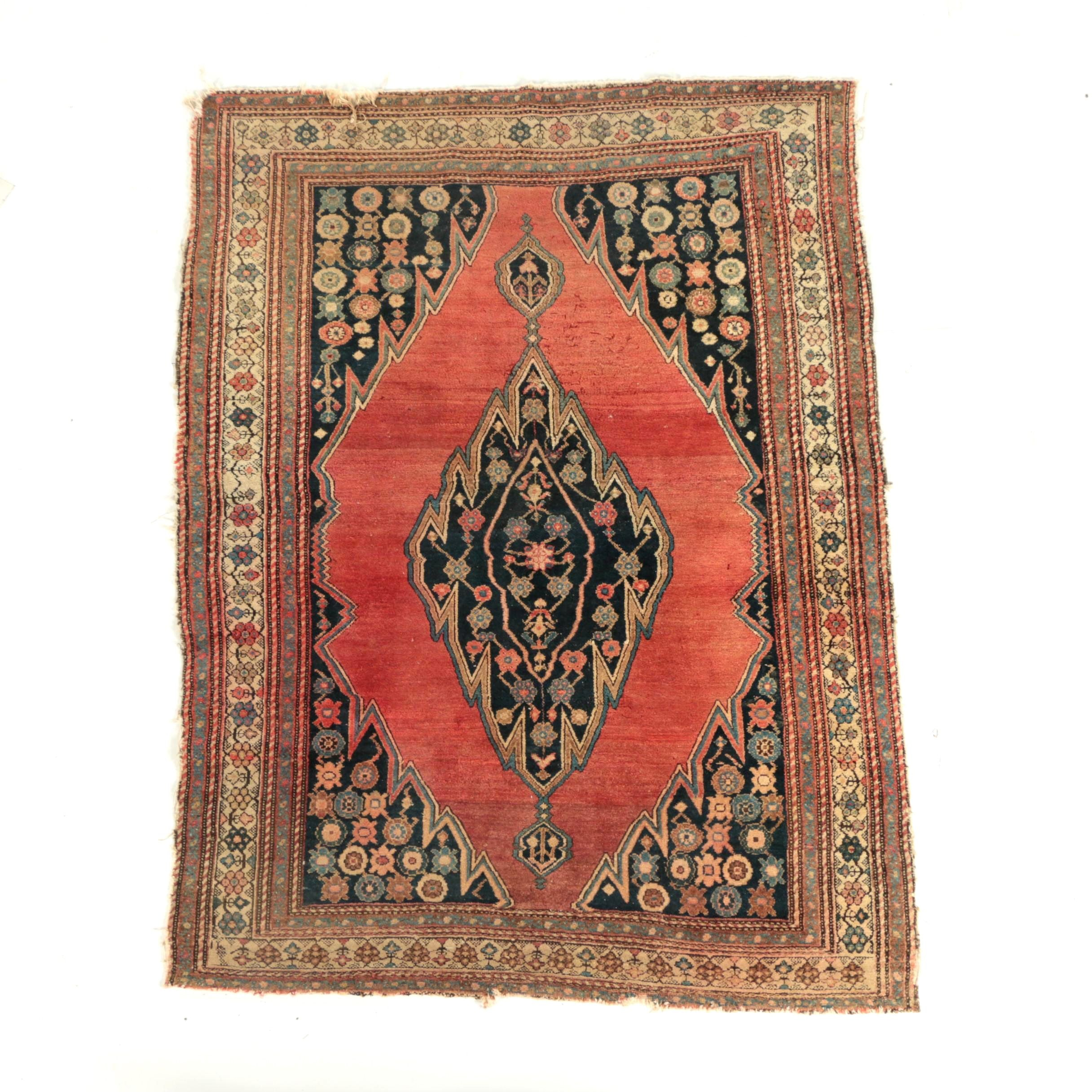 Semi-Antique Hand-Knotted Persian Kerdar Wool Area Rug