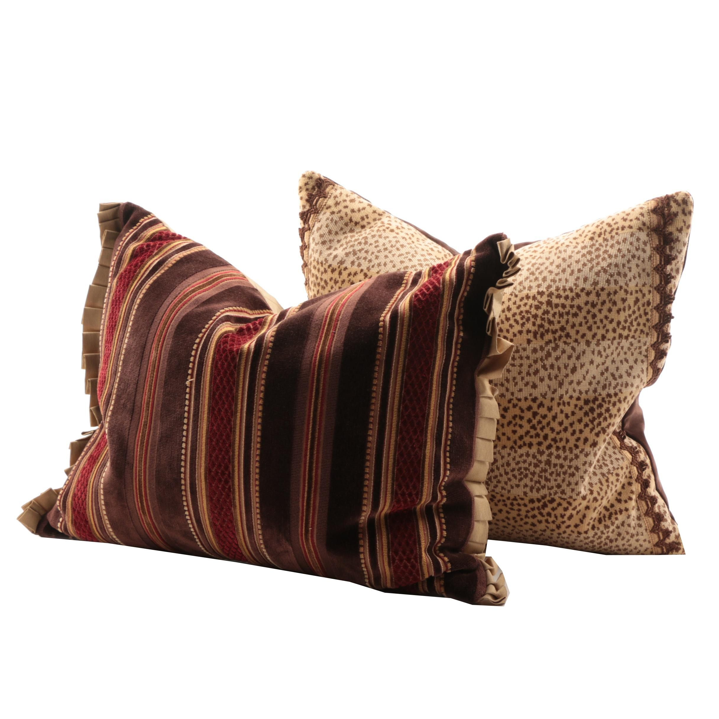 Decorative Feather Filled Pillows In Designer Fabrics