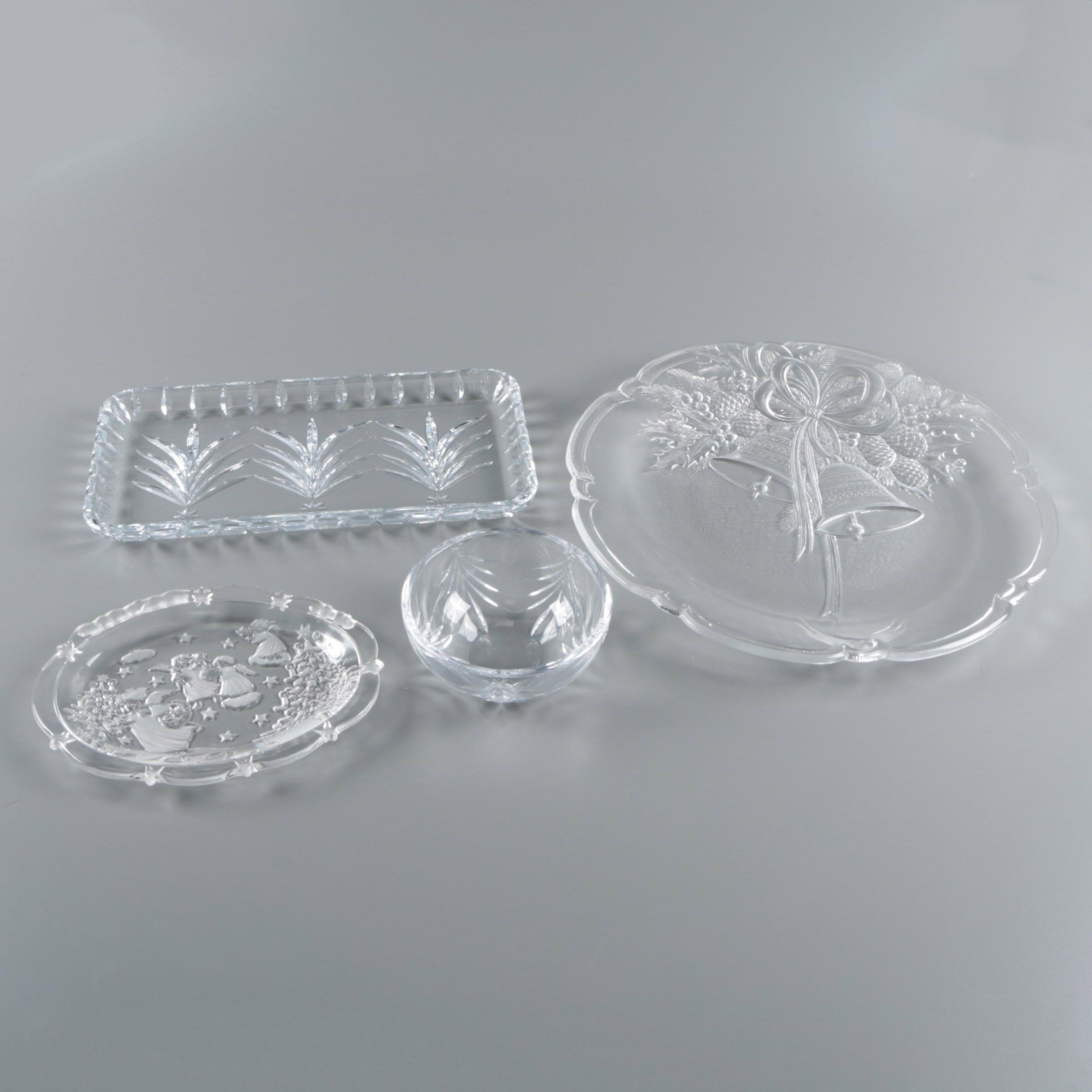 "Marquis by Waterford ""Christmas Tree"" Crystal and Glass Serveware"