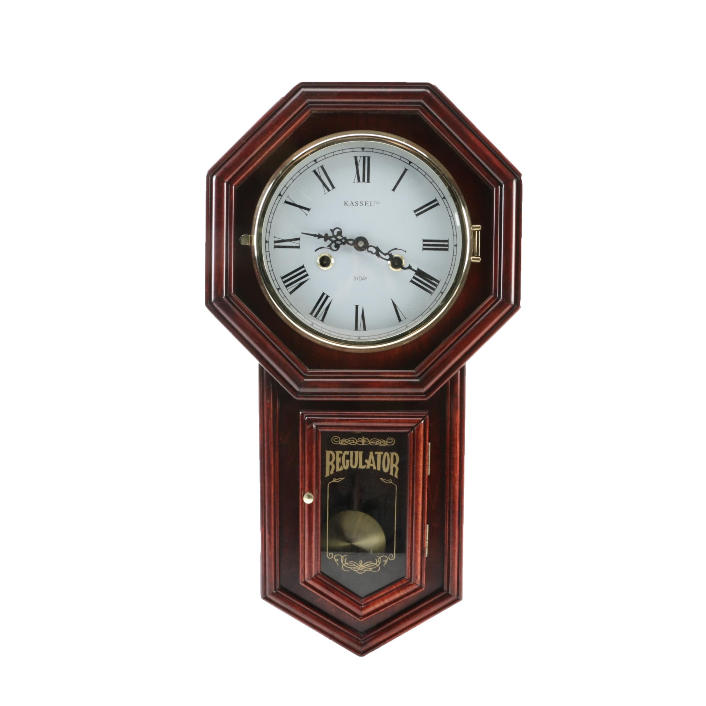 Vintage Kassel Regulator Wall Clock