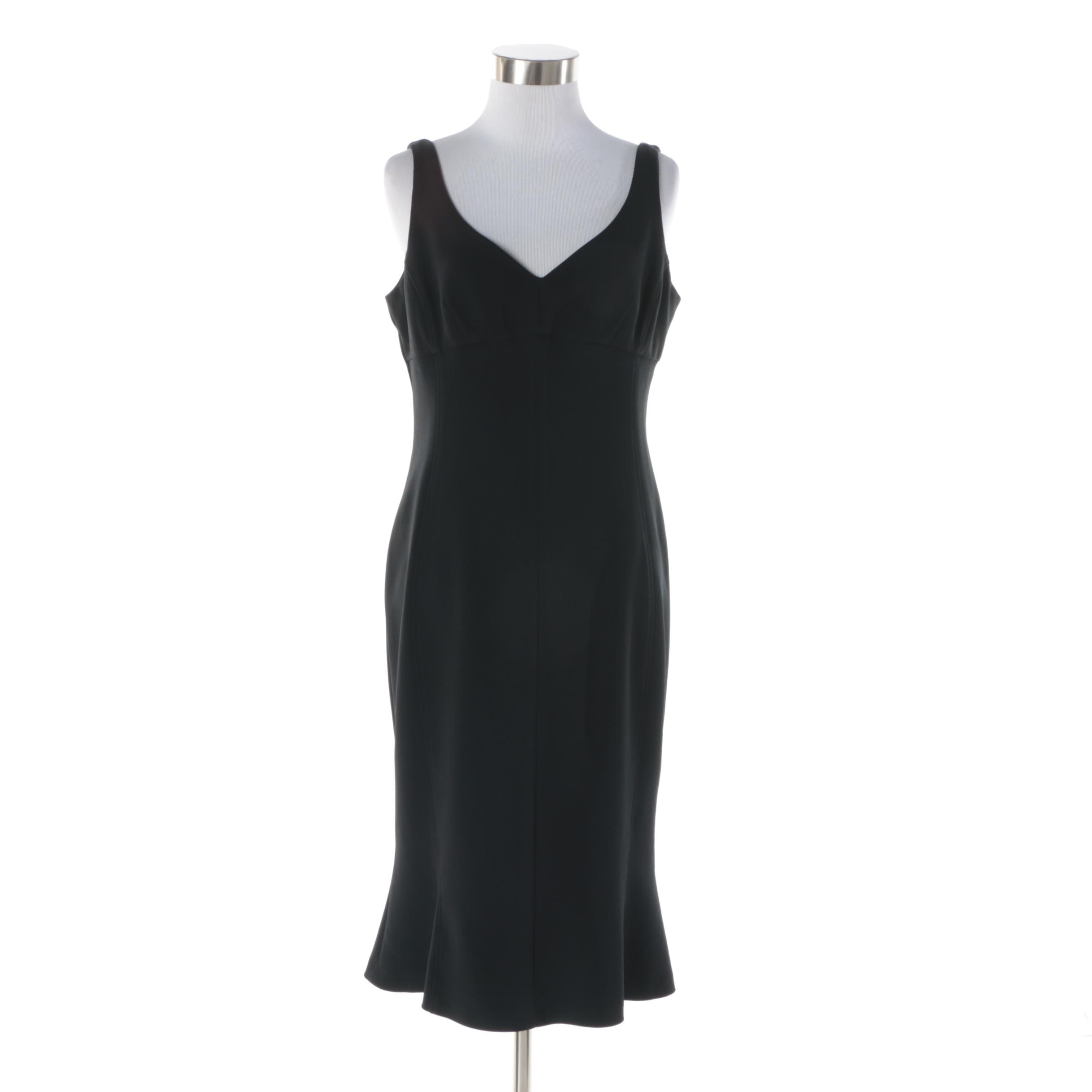Versace Jeans Couture Black Sleeveless Cocktail Dress