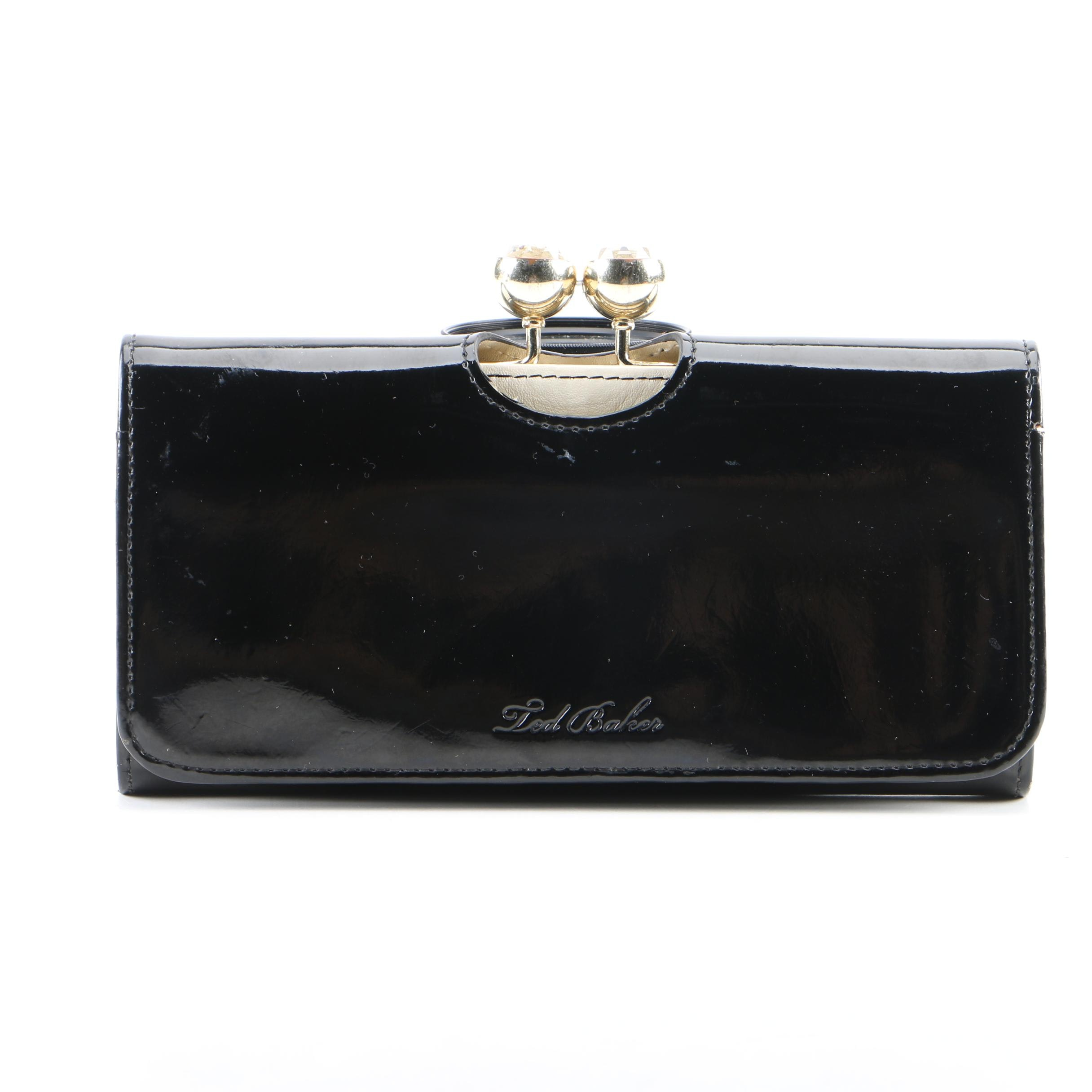 Ted Baker of London Black Patent Leather Wallet