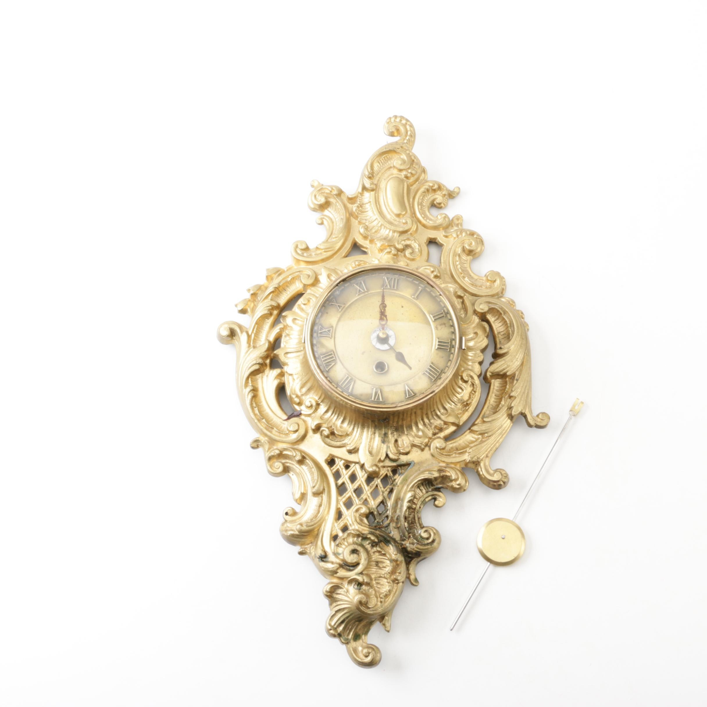 Mason and Sullivan Cartel Style Gilded Metal Wall Clock