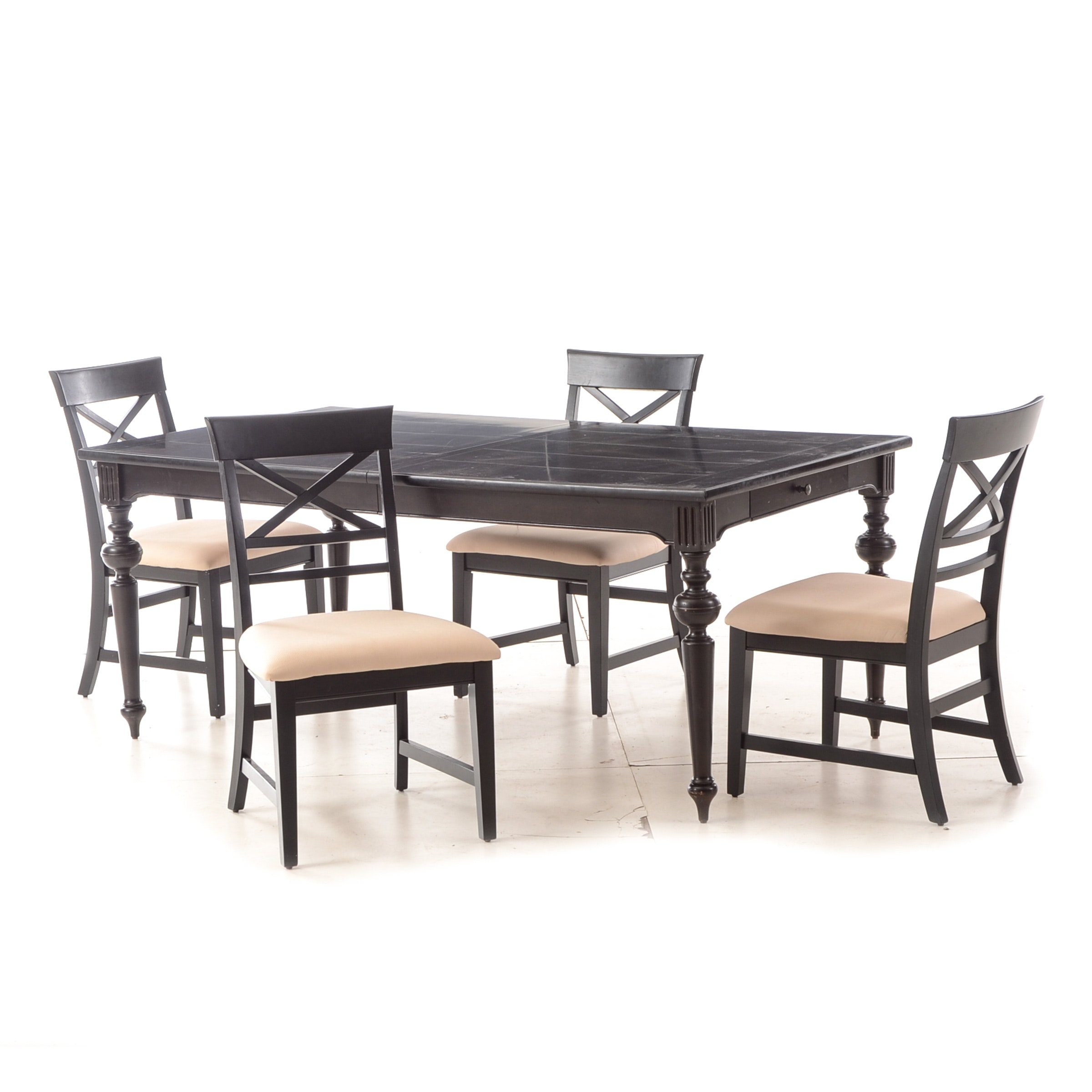 Farmhouse Style Table with Four Chairs