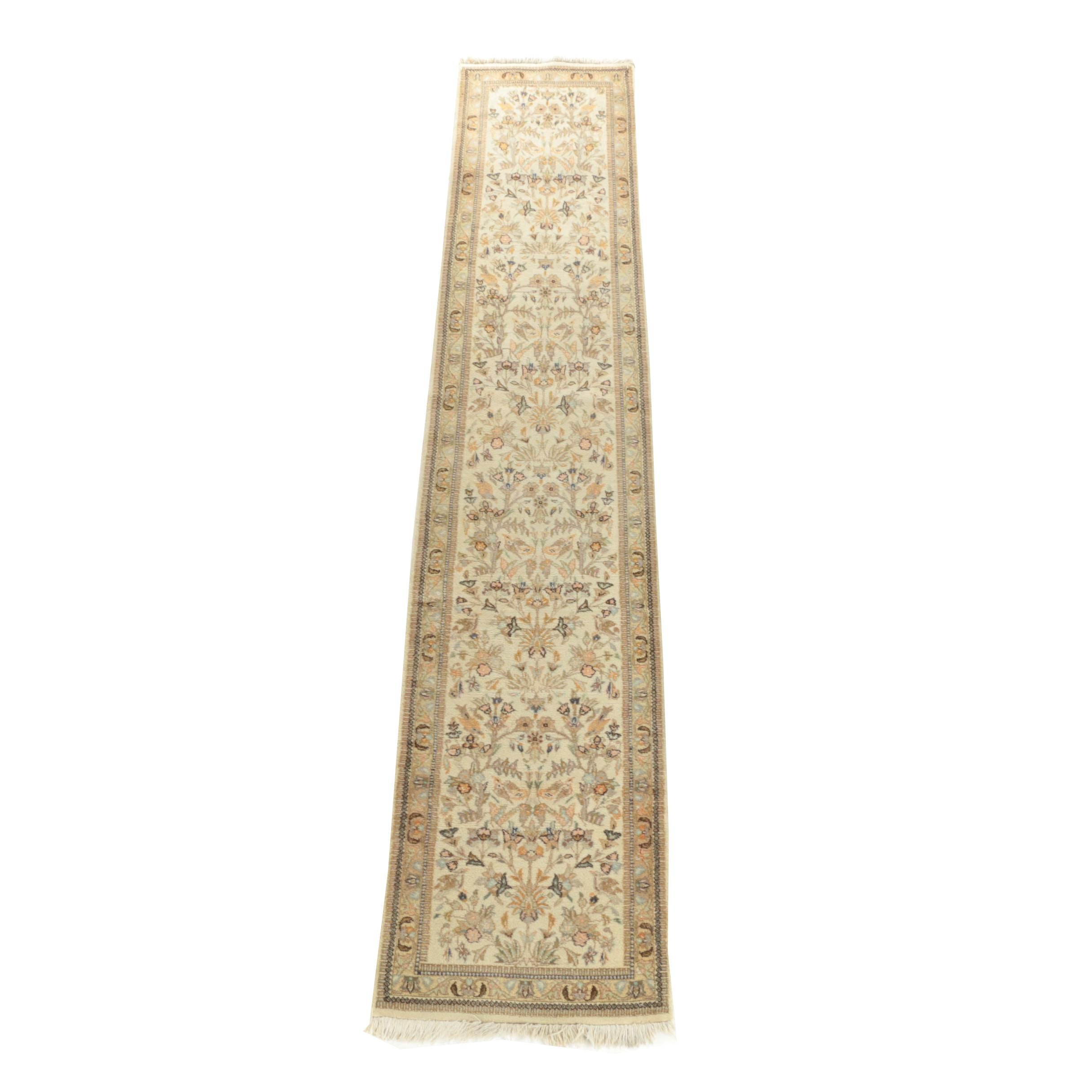 Vintage Hand-Knotted Persian Tabriz Wool Palace Sized Runner