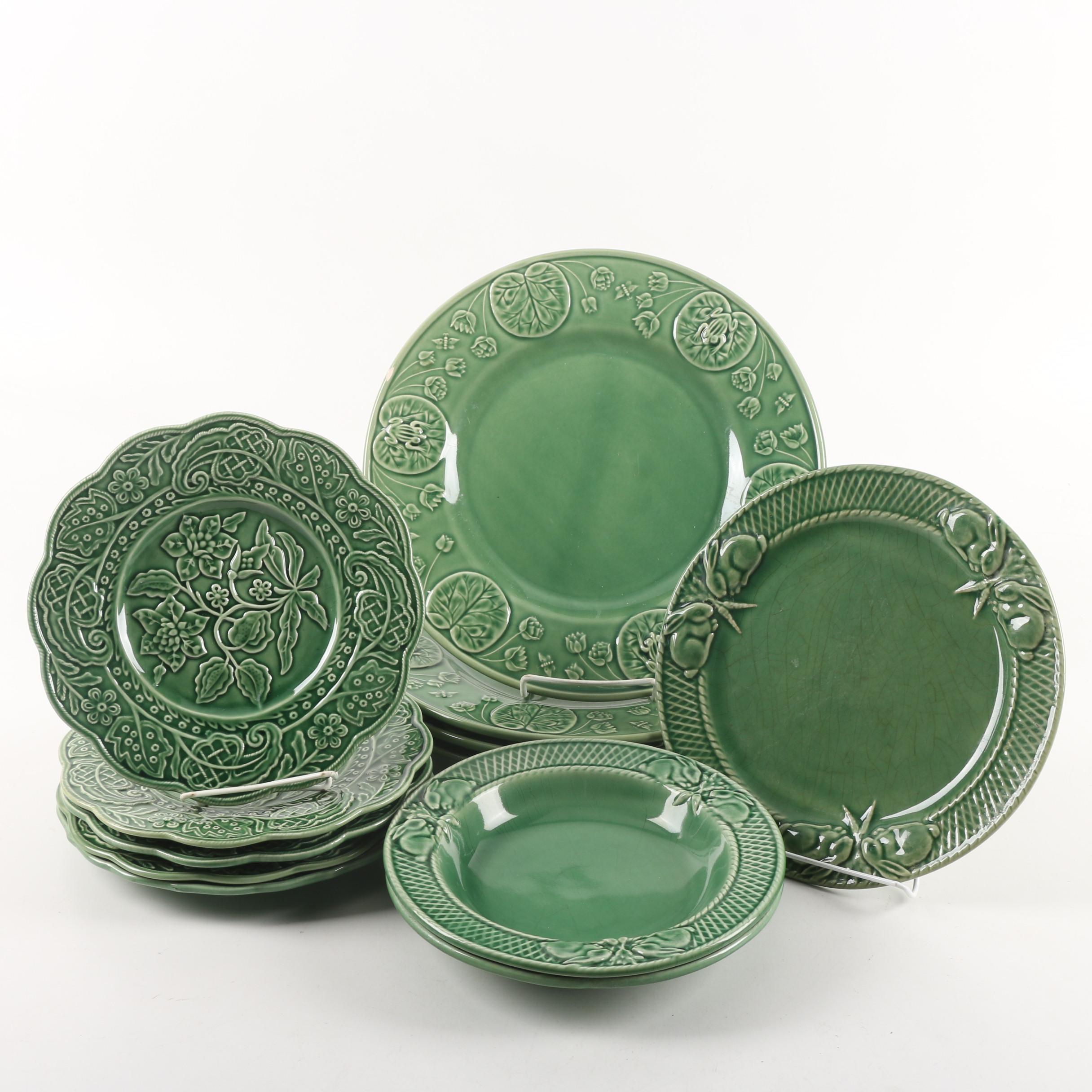 Bordallo Pinheiro Majolica Style Ceramic Tableware