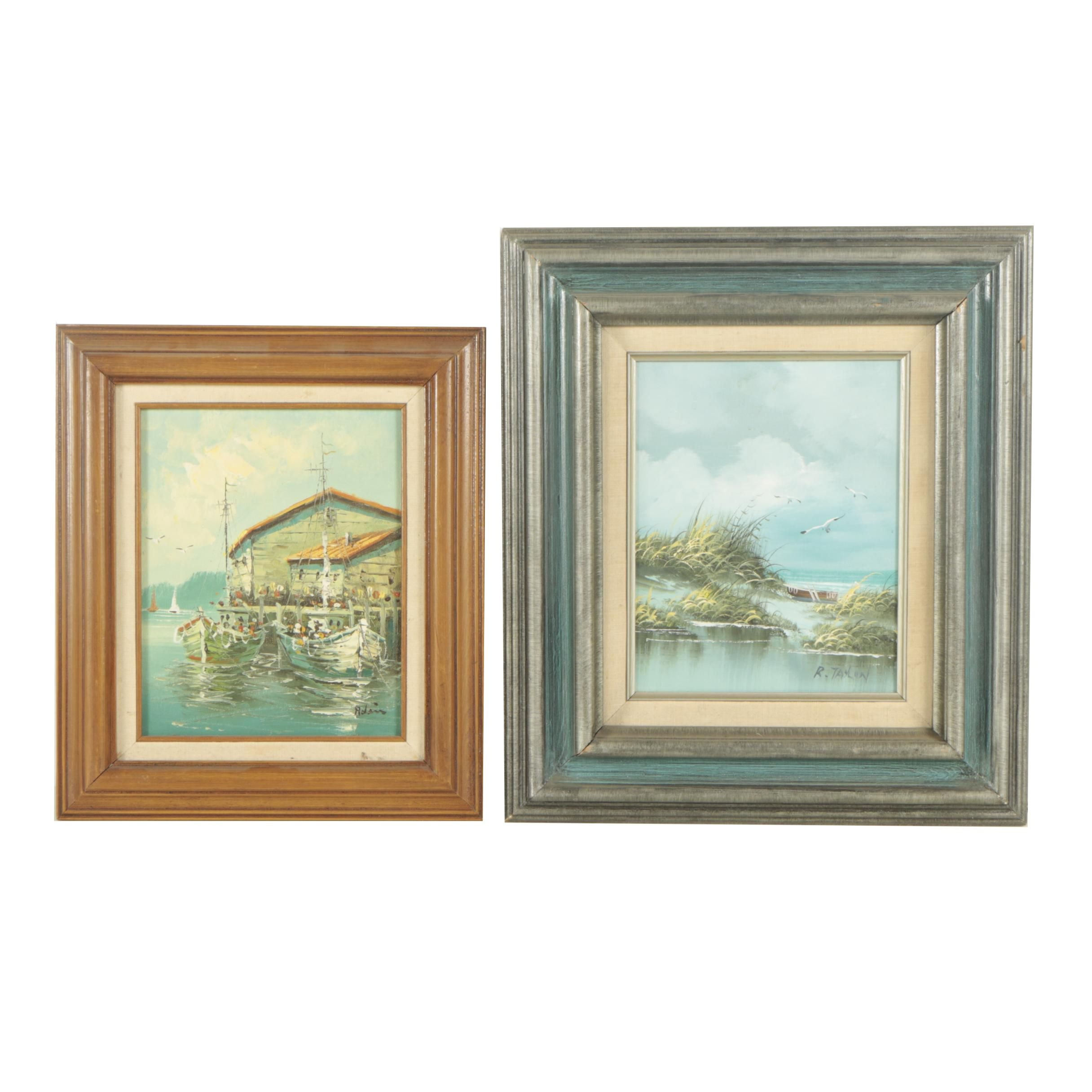 R. Taylor and Adair Late 20th Century Oil Paintings