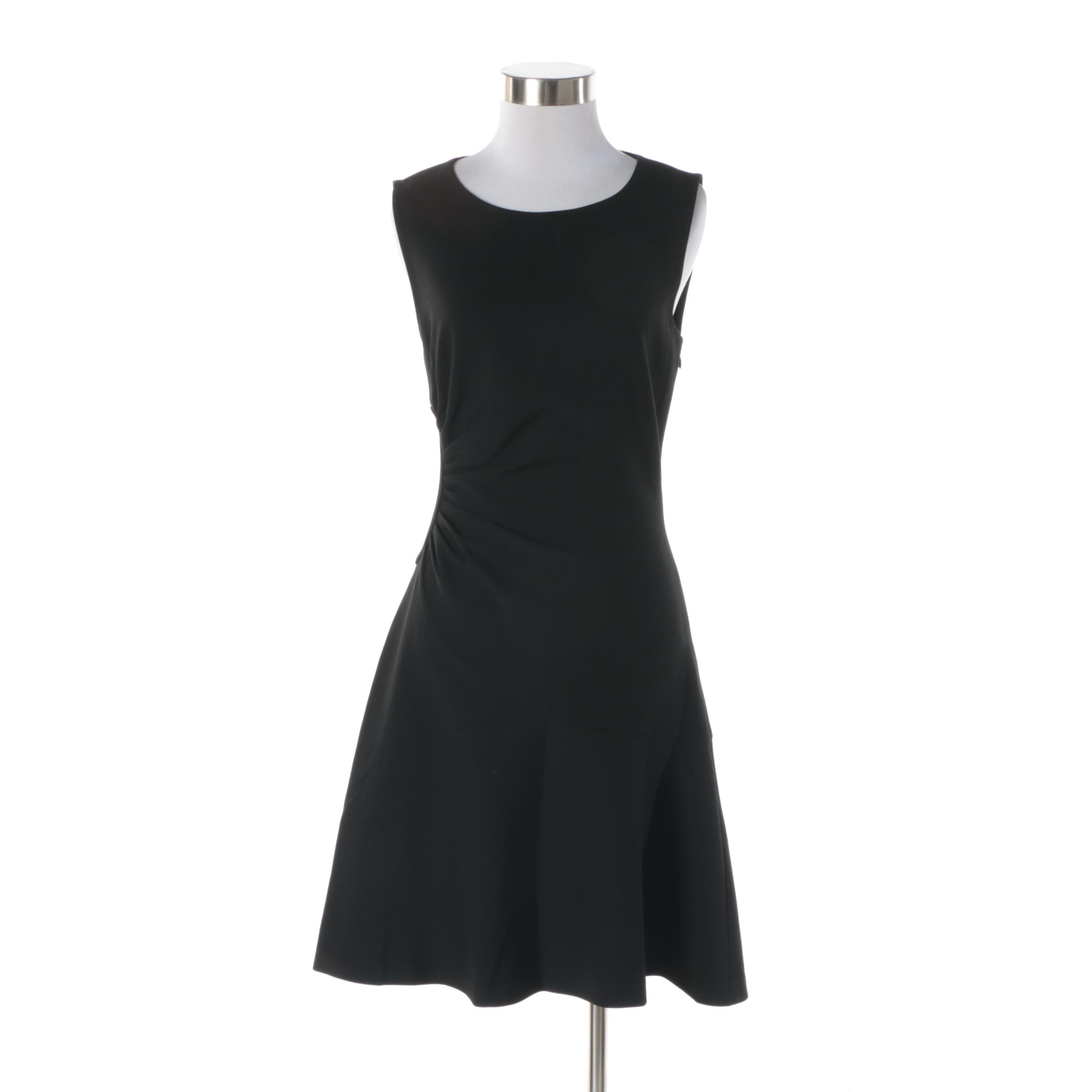 Diane von Furstenberg Black Sleeveless Cocktail Dress