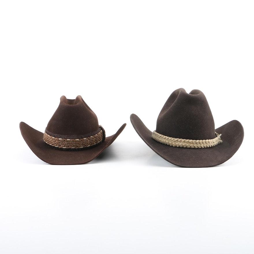 c511fa161d6f0 Men s Resistol Lariat Cordova and Bailey New West Cowboy Hats   EBTH