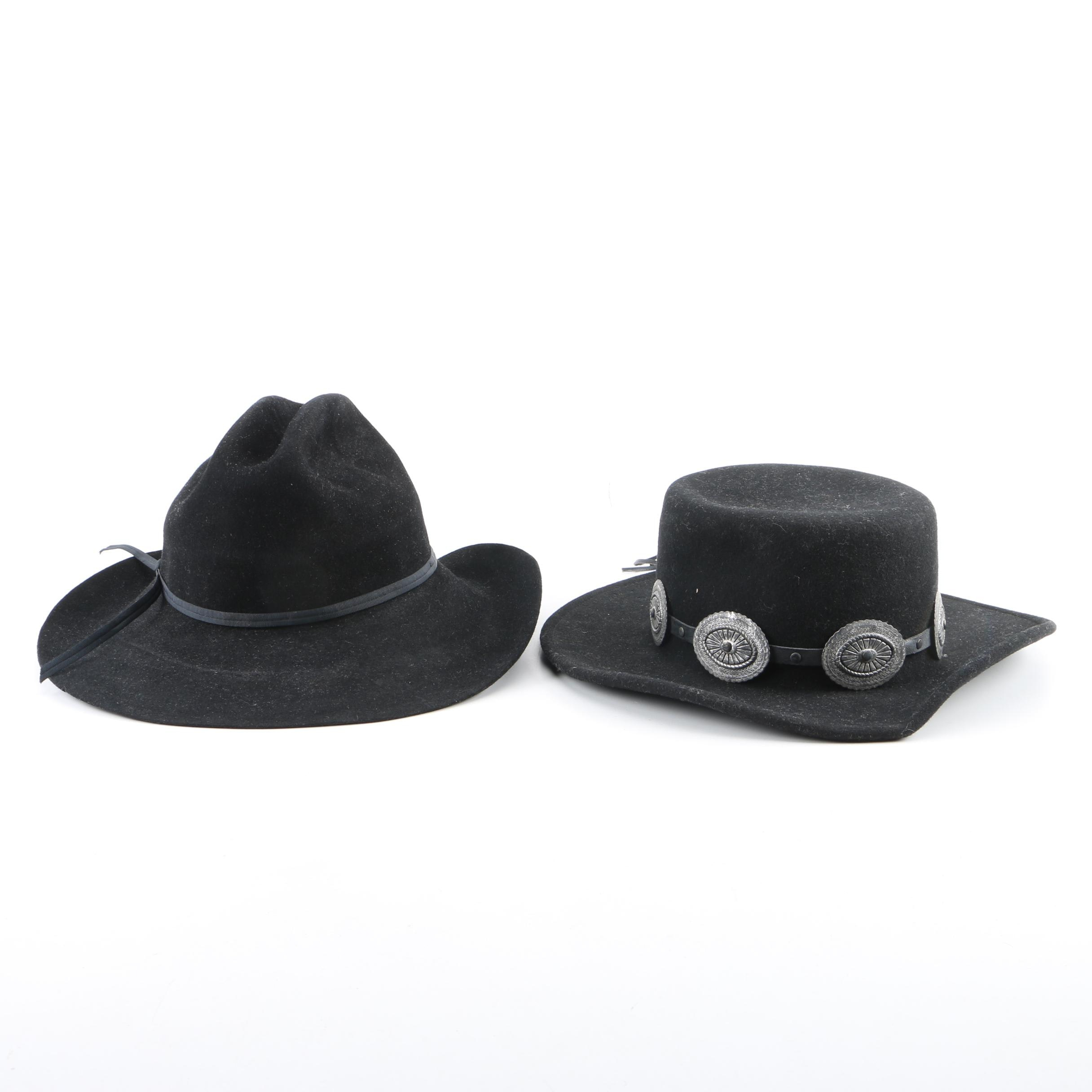 Men's Vintage Bailey Black Fur Felt Western Hats