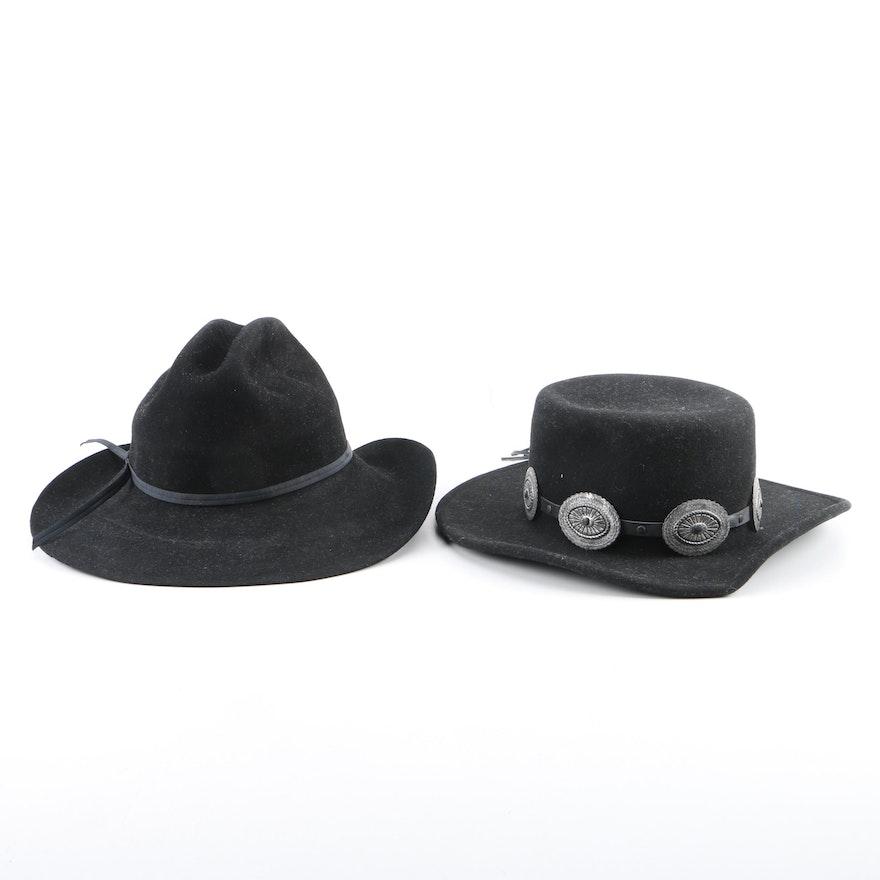 b6d138867c384 Men s Vintage Bailey Black Fur Felt Western Hats   EBTH