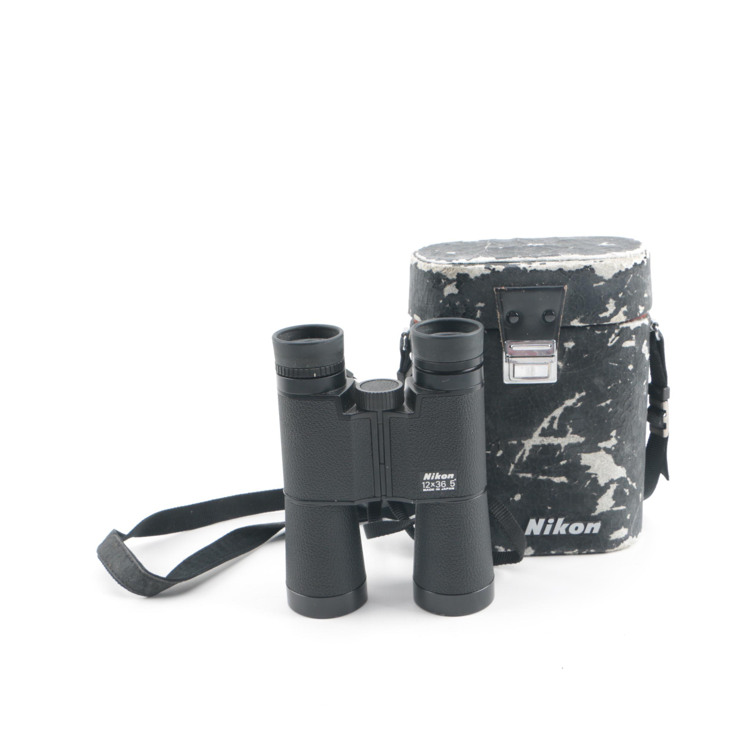 Vintage Nikon Binoculars with Case