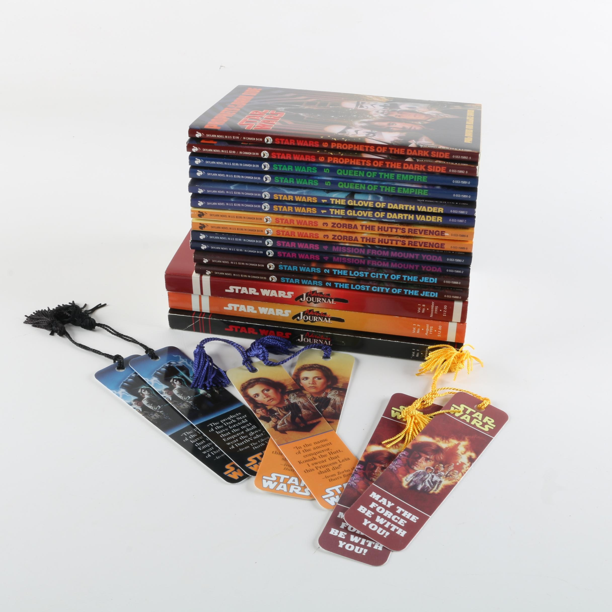 Star Wars Adventure Journals and Jedi Prince Series Books with Bookmarks