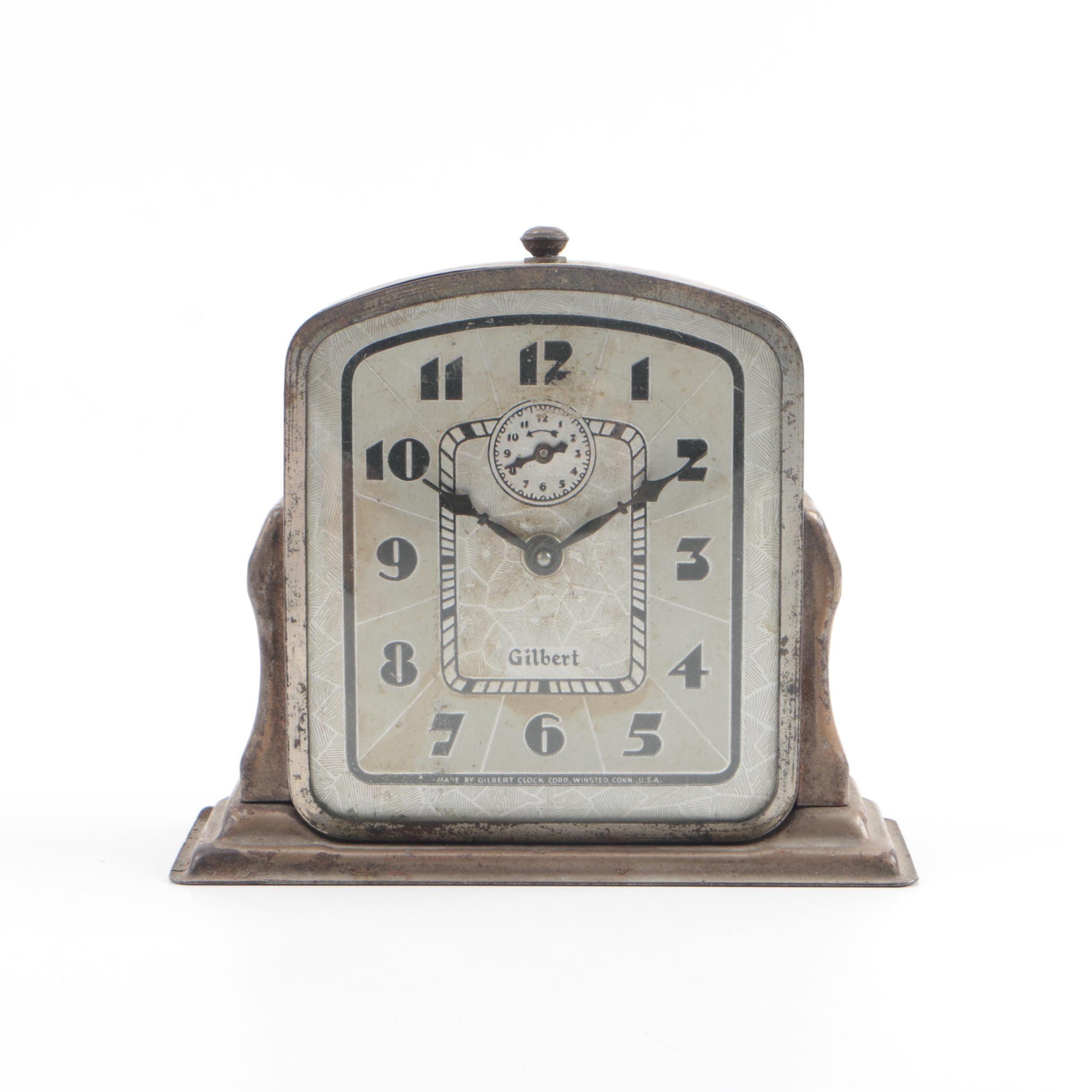 Vintage Gilbert Art Deco Style Alarm Clock