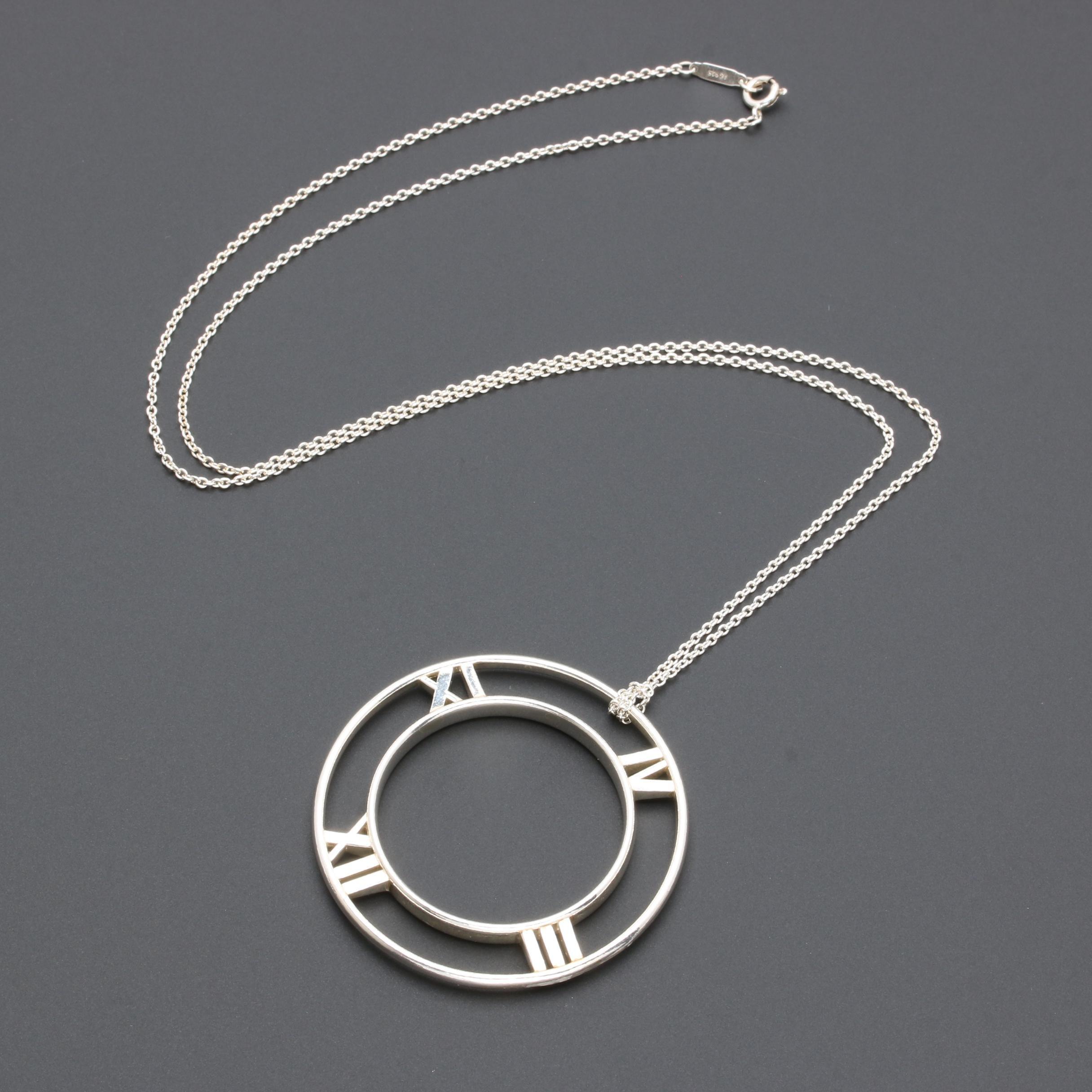 "Tiffany & Co. ""Atlas"" Collection Pendant Necklace"
