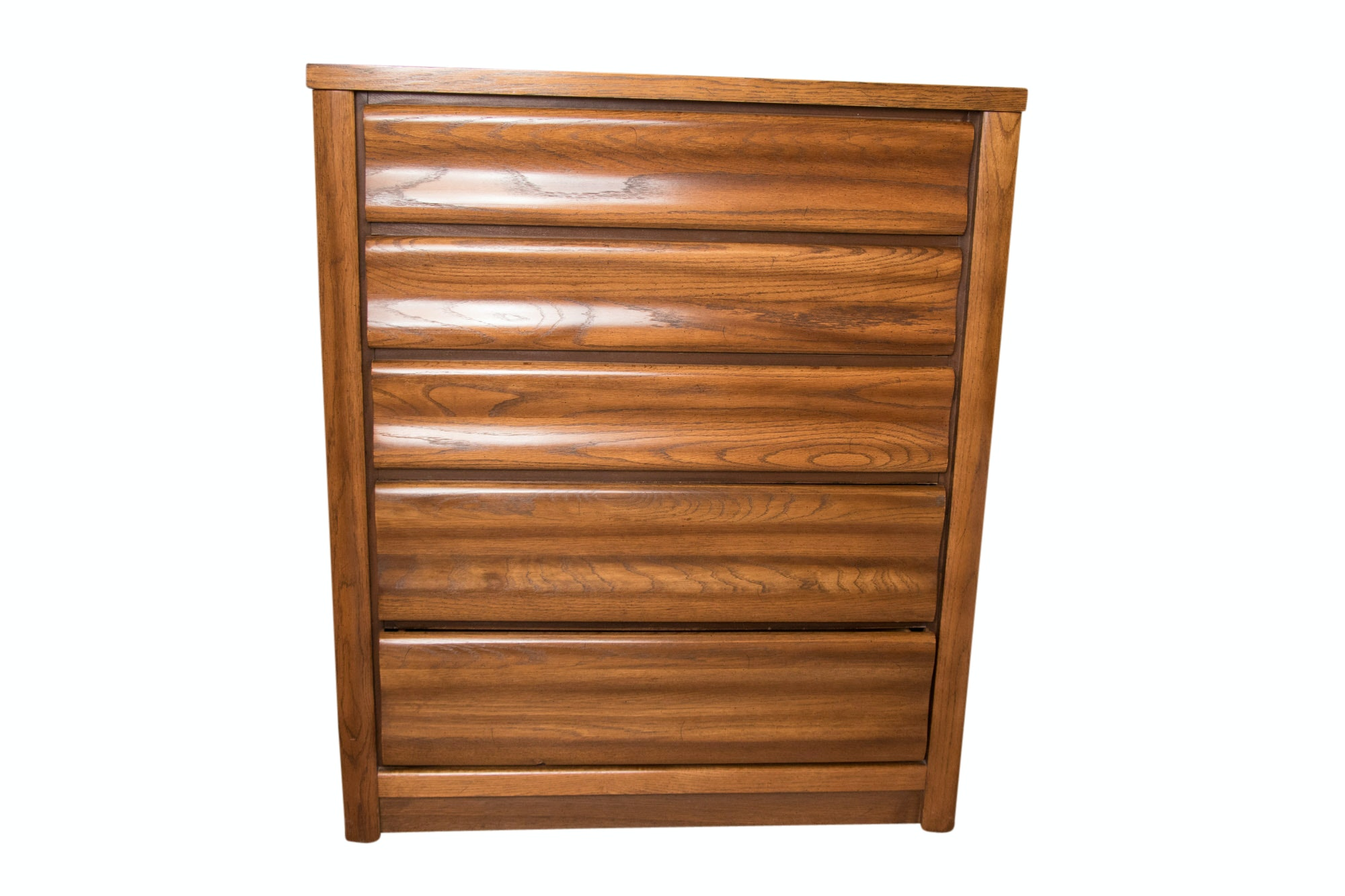 Oak Five Drawer Dresser