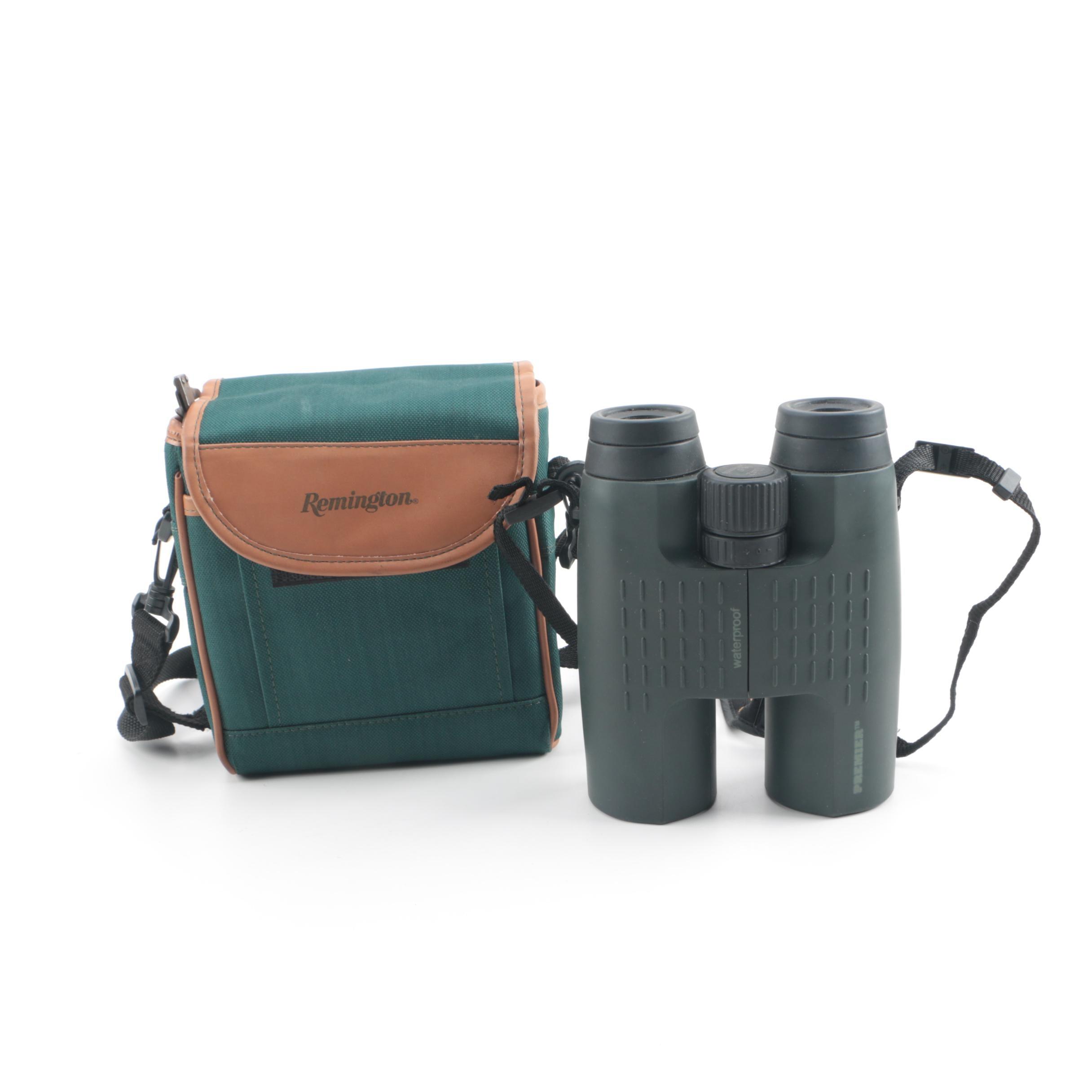 Remington Premiere Waterproof Binoculars with Canvas Case
