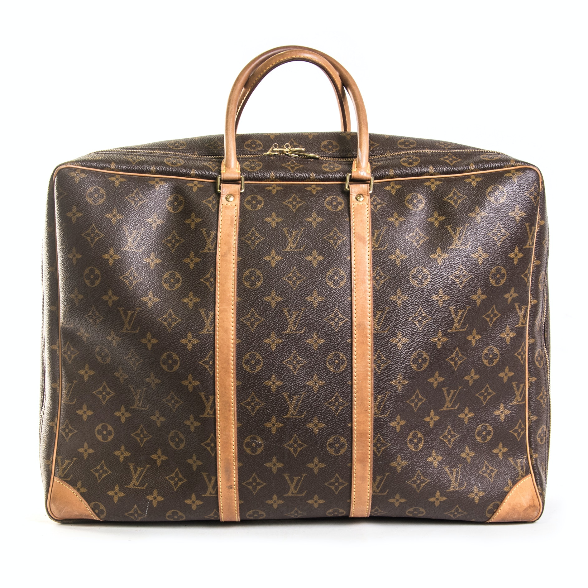 Louis Vuitton of Paris Monogram Canvas and Leather Soft-Sided Suitcase