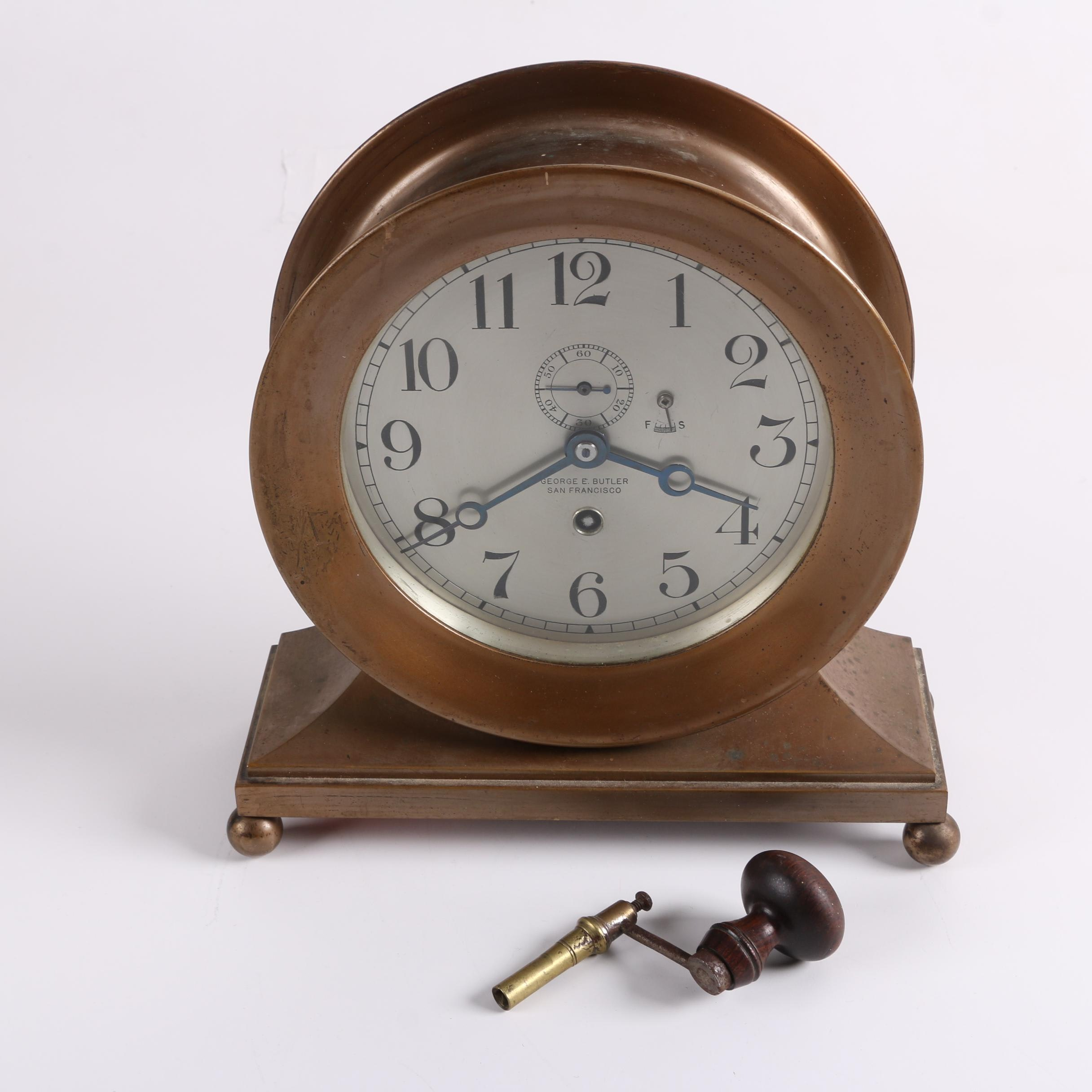 Semi-Antique Chelsea Ship's Bell Clock for George E. Butler Co.