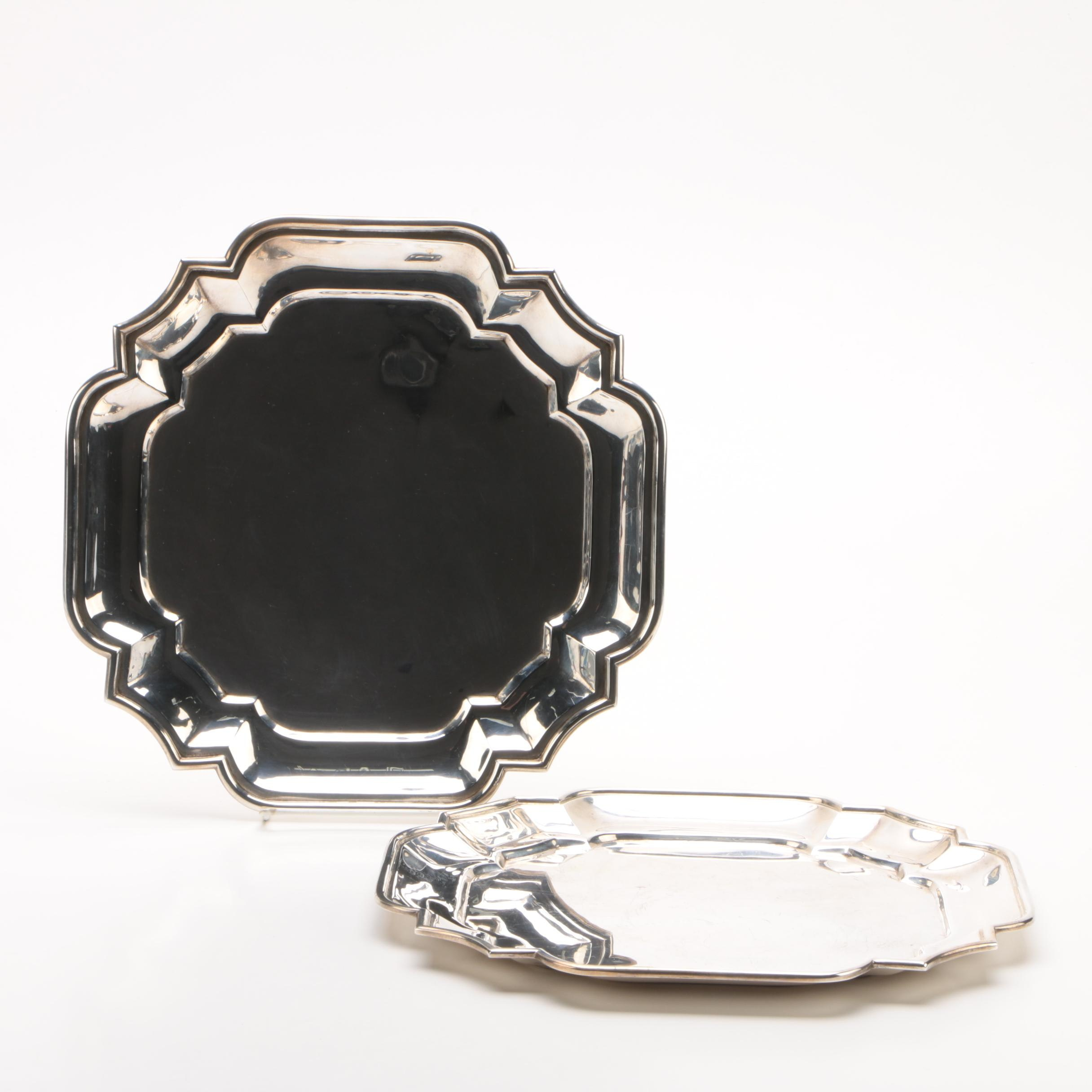 Tane Mexican Sterling Silver Serving Trays