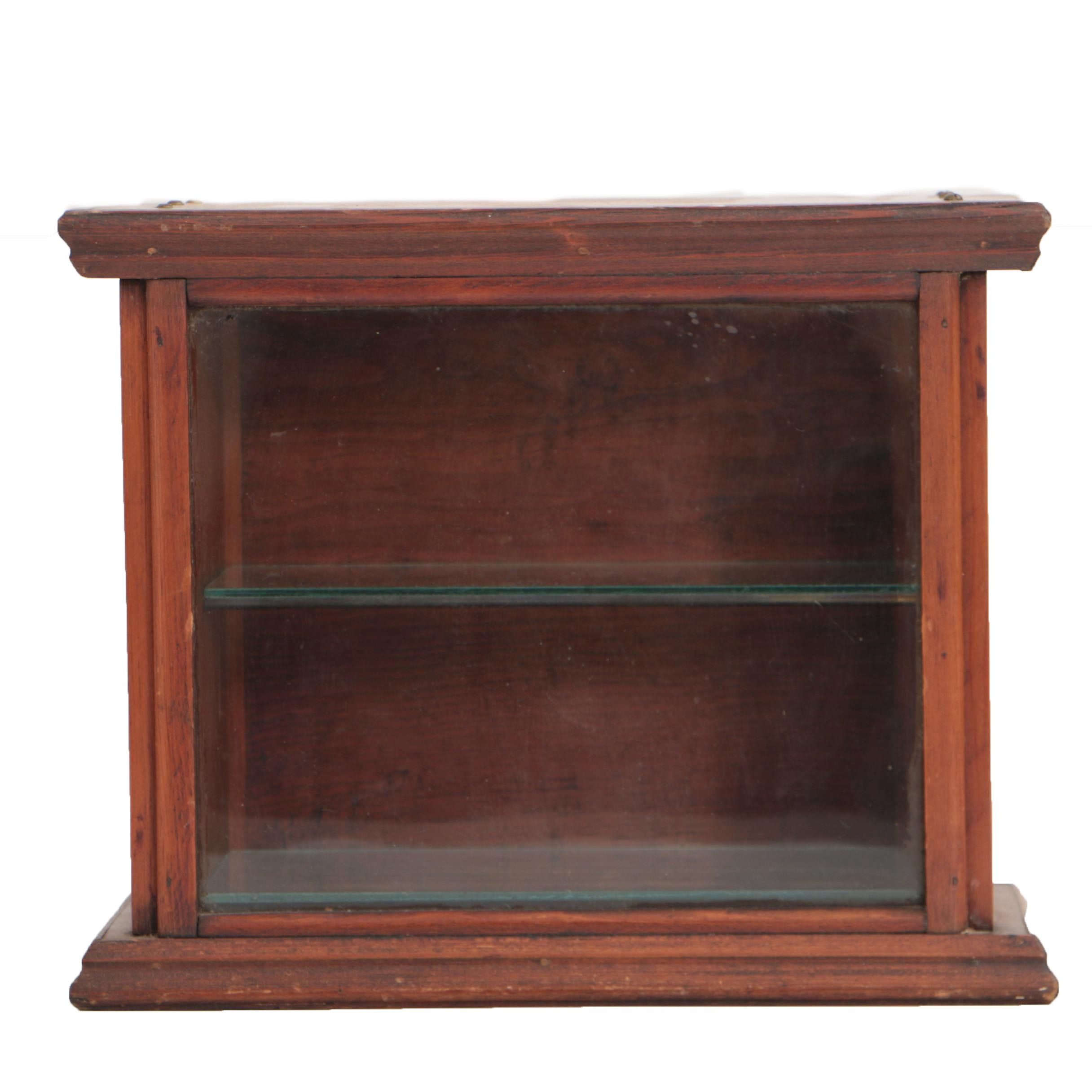 Vintage Pine Countertop Display Case