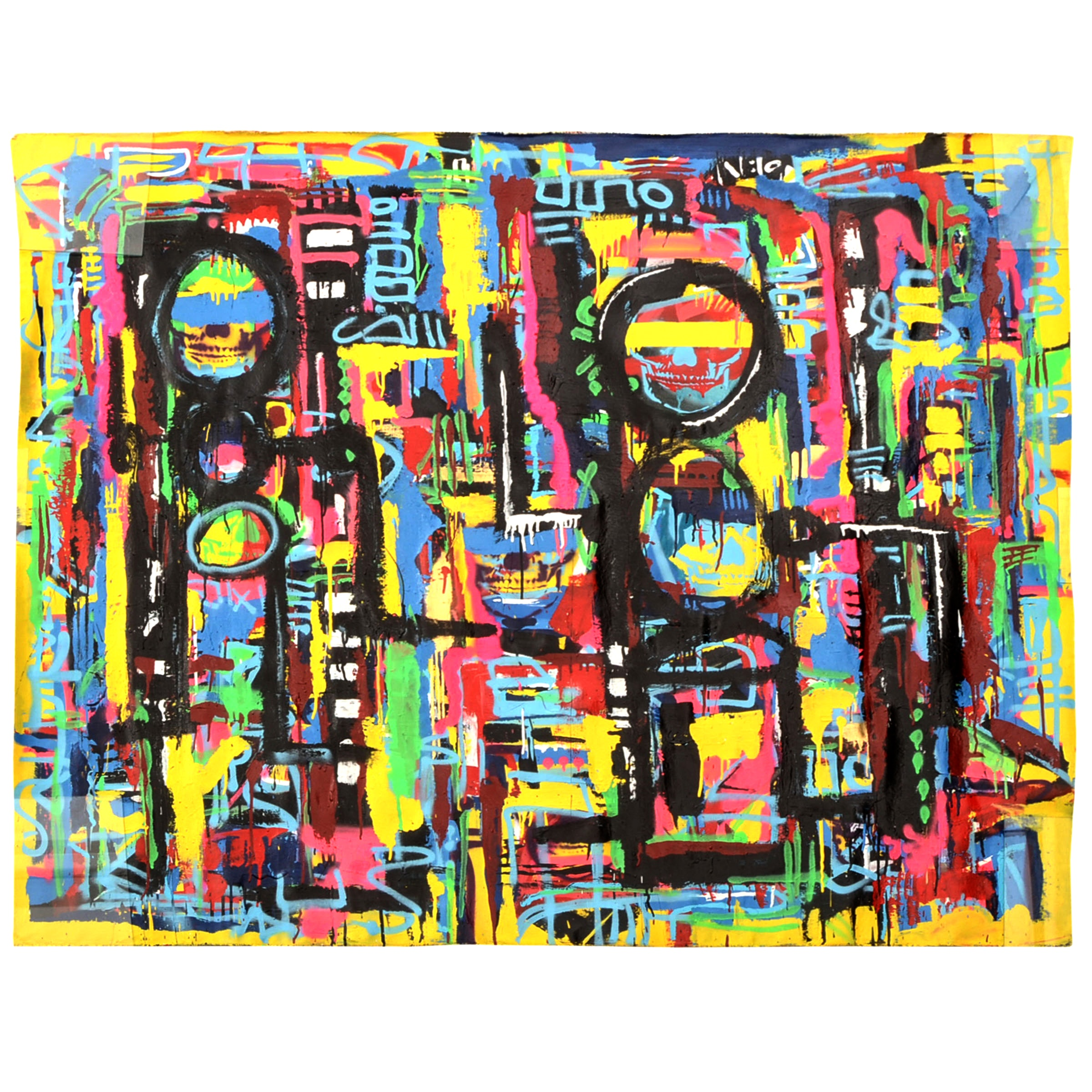 R.C. Raynor Large-scale Acrylic on Canvas Urban Graffiti Style Painting