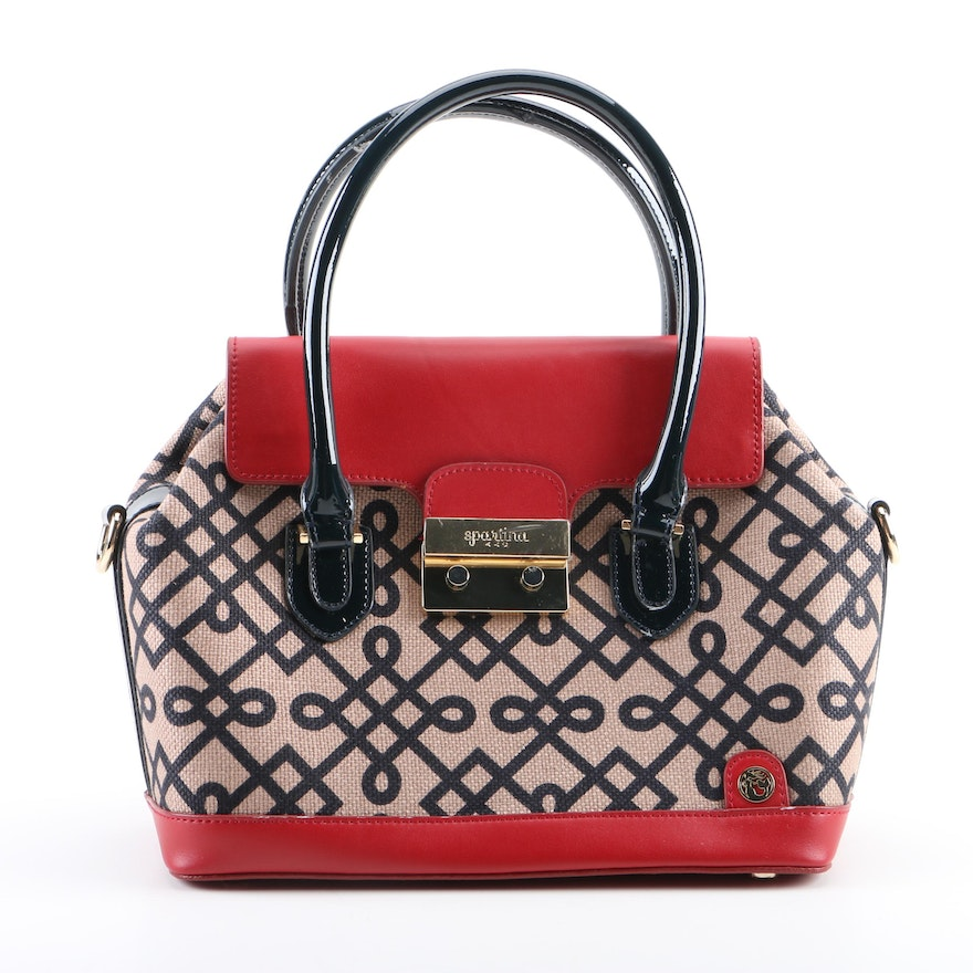 52bf7f31861 Spartina 449 Canvas and Leather Convertible Satchel   EBTH