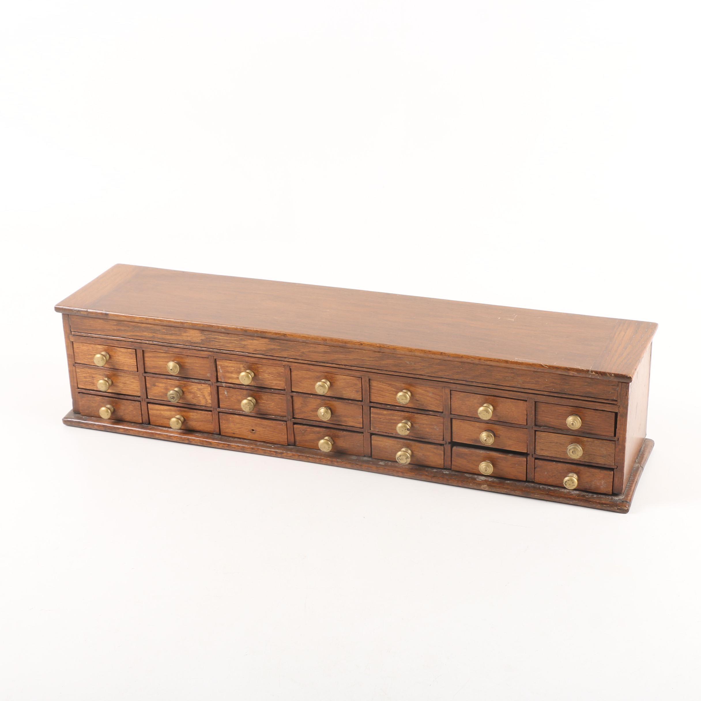 Vintage Oak Storage Box ...  sc 1 st  EBTH.com & Vintage Oak Storage Box : EBTH
